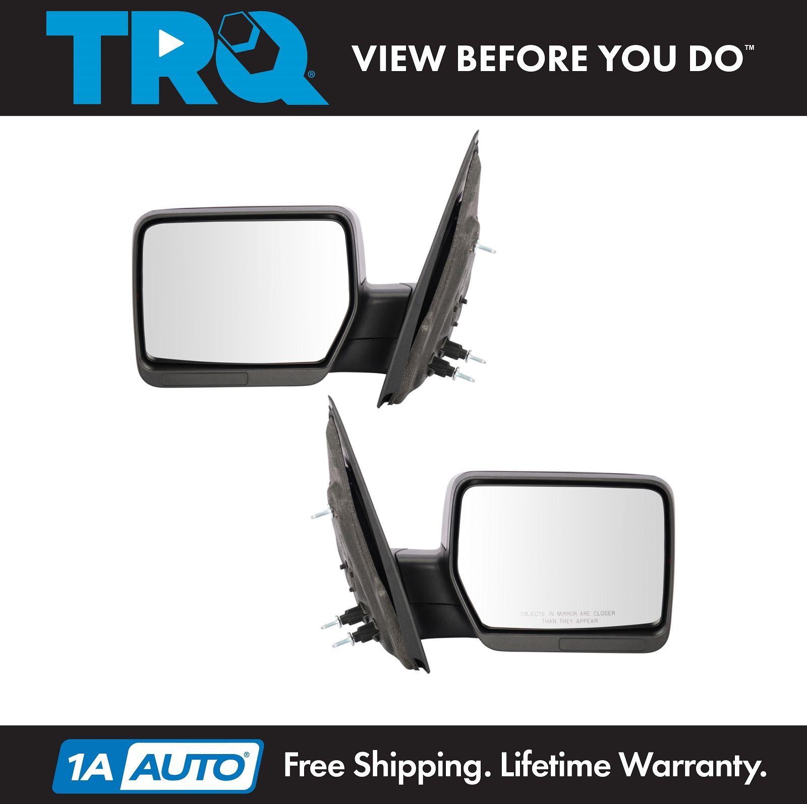 Upgrade Mirror Manual Amber Reflector Black Textured Cap