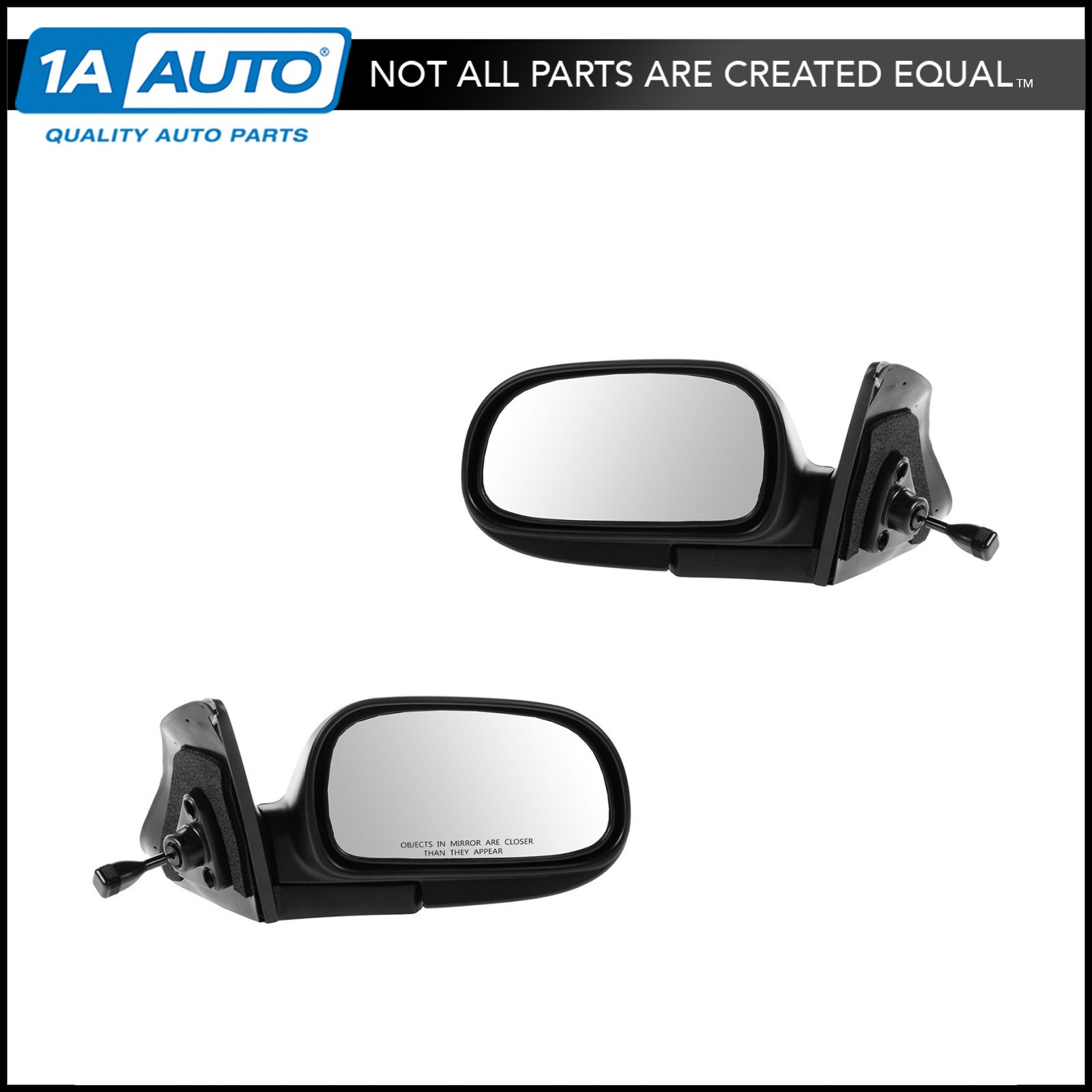 NEW Mirror 87-96 DODGE DAKOTA Driver Left Side MANUAL REMOTE NON-HEATED Assembly