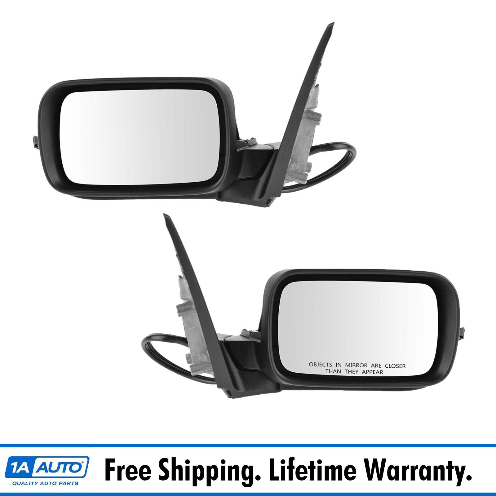98-02 TownCar Power Heat Black Folding Rear View Mirror Right Left Side Set PAIR