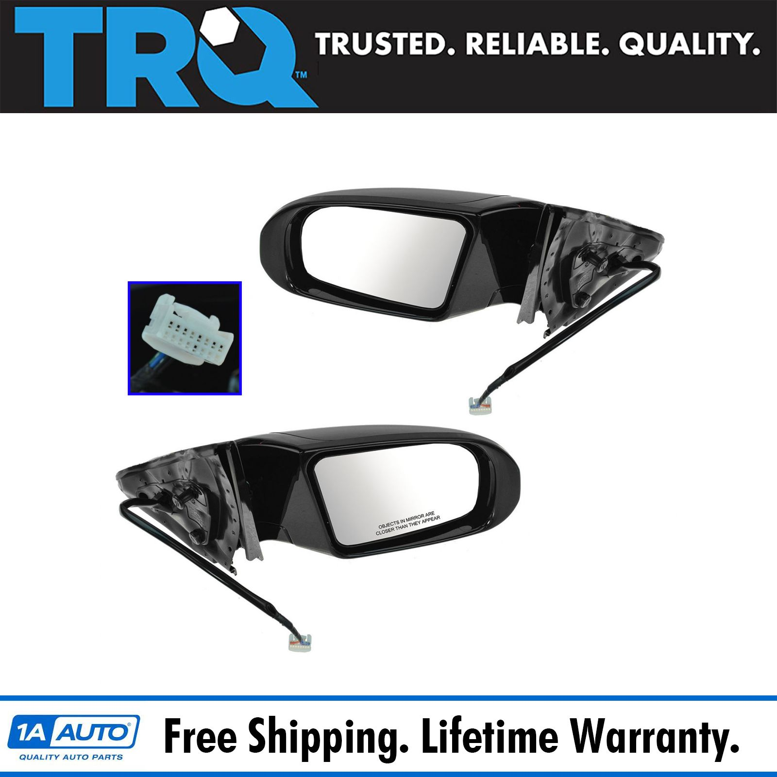 Mirror Power Left Driver /& Right Passenger Side Pair for Subaru Baja Outback