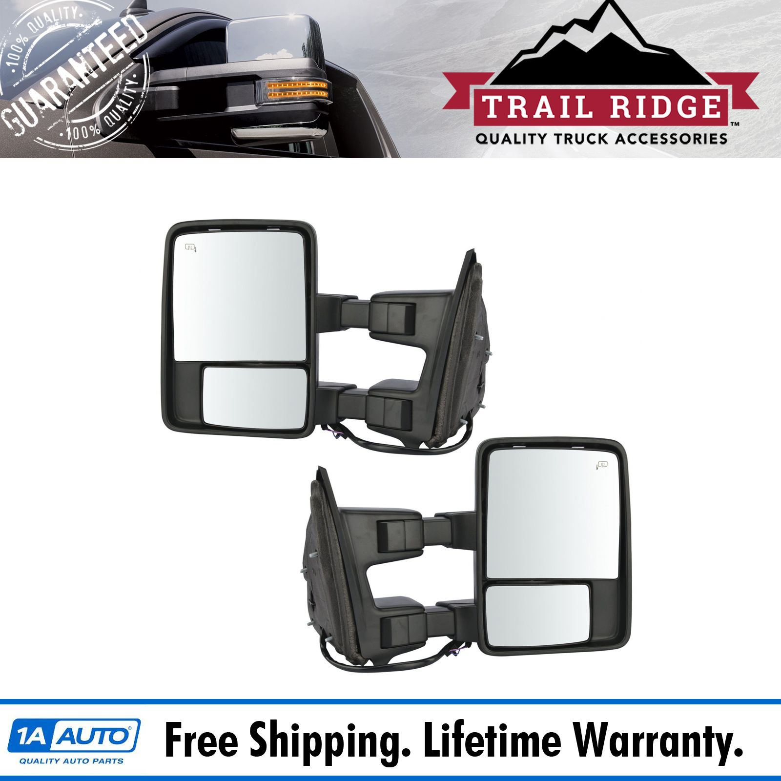 Trail Ridge Towing Mirror Power Folding Extend Heat Memory