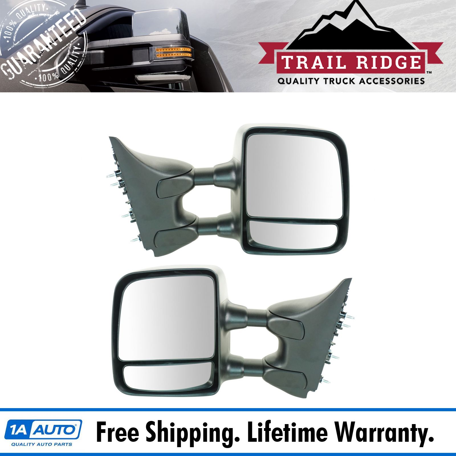Mirror Cap Cover Textured Black Tow Left and Right Pair Set for Nissan Titan
