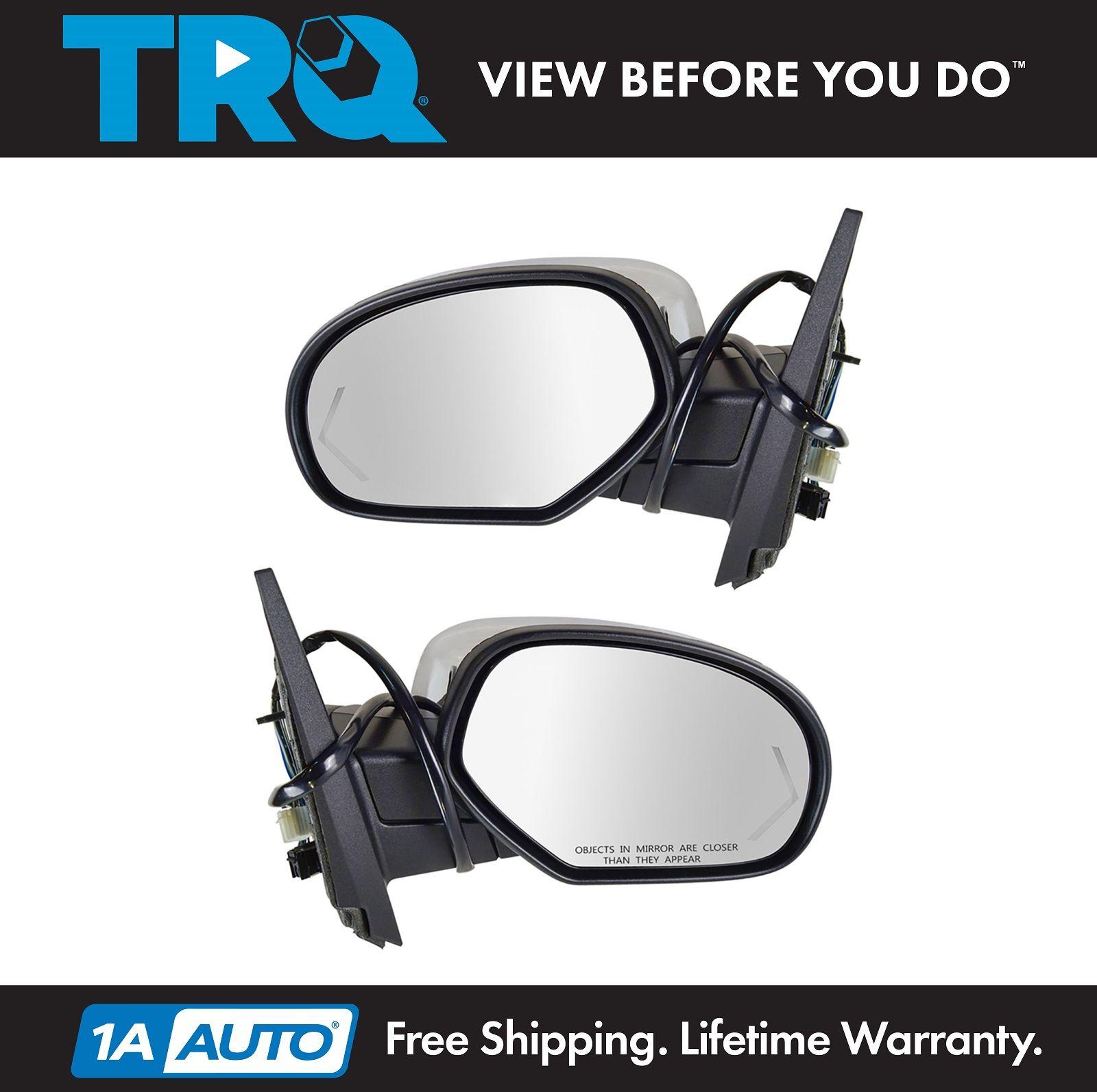 11-12 Grand Cherokee Power Heat Manual Fold Door Mirror Left Right Side SET PAIR