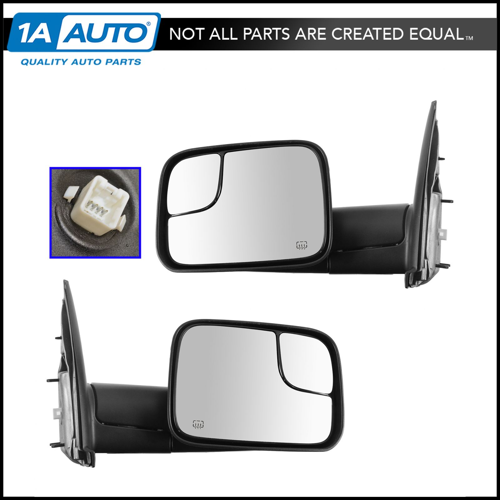 Oem 82207298 Power Heater Flip Up Style Tow Mirrors Pair For Dodge Ram 2500 Towing Pickup
