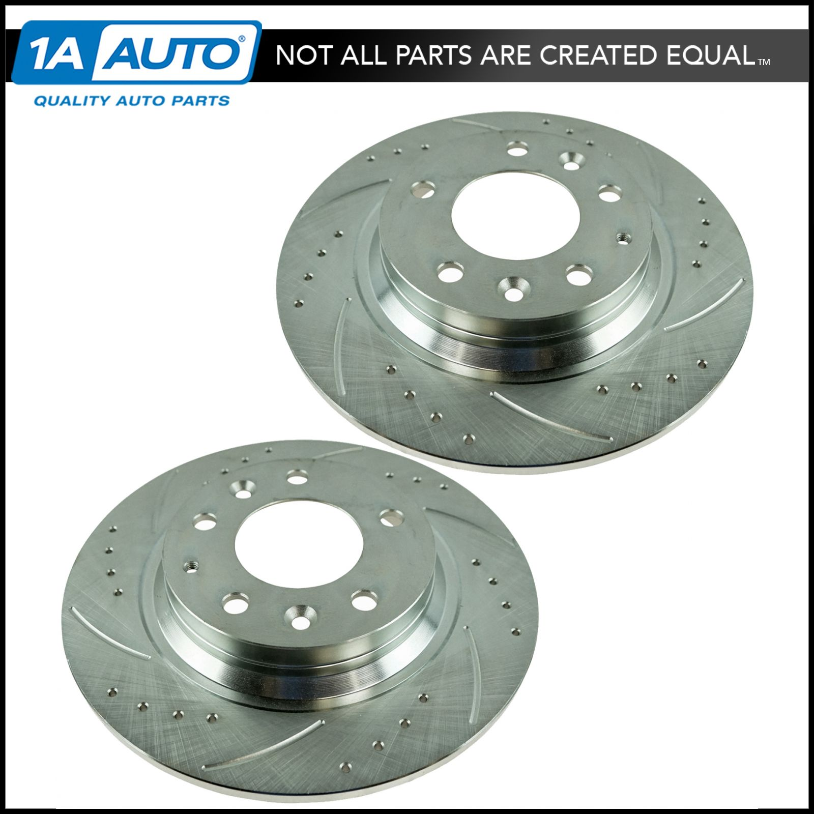 02-06 Nissan Altima Drilled Slotted Brake Rotors F+R