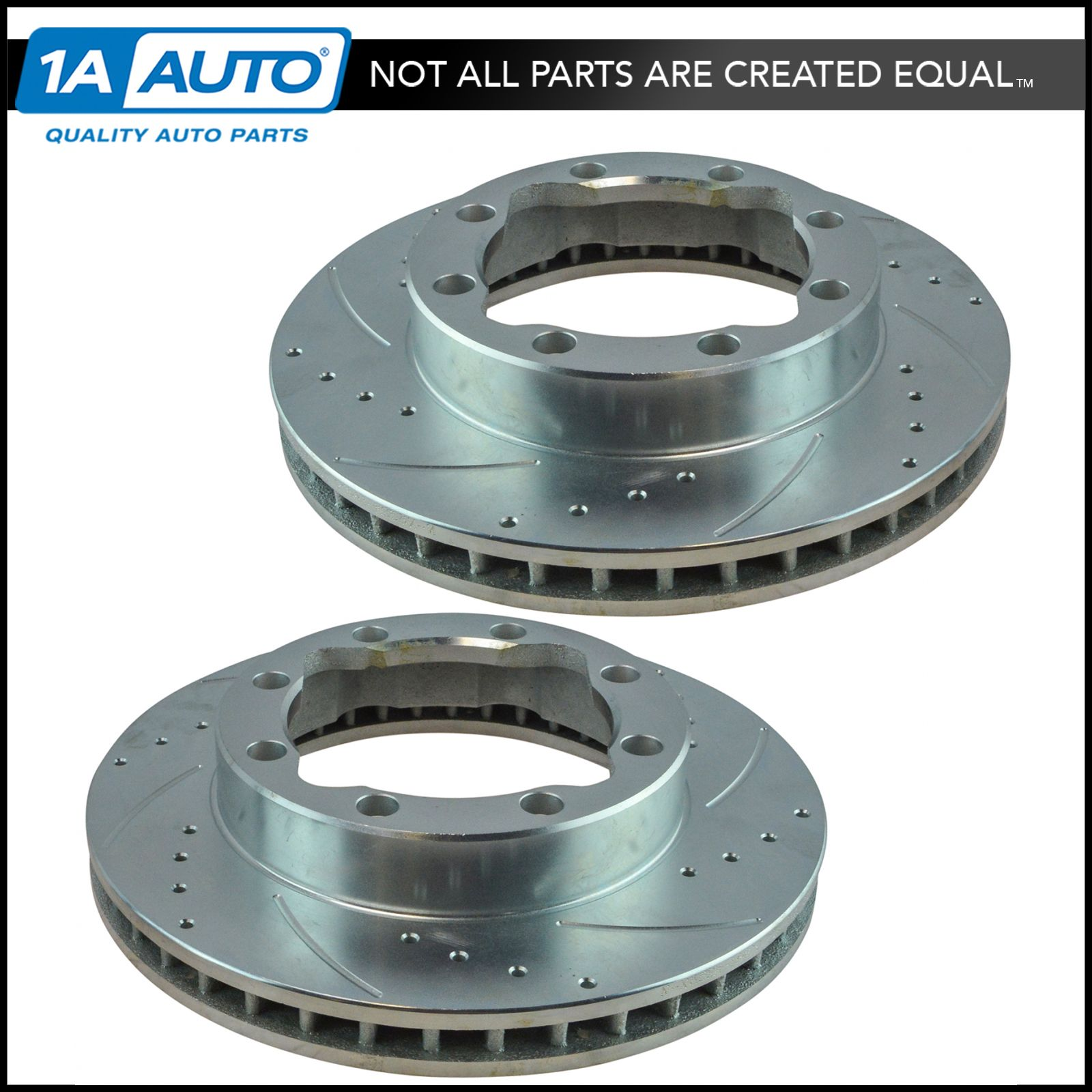 Nakamoto Performance Drilled Slotted Front Coated Brake Rotor Pair for GMC Truck