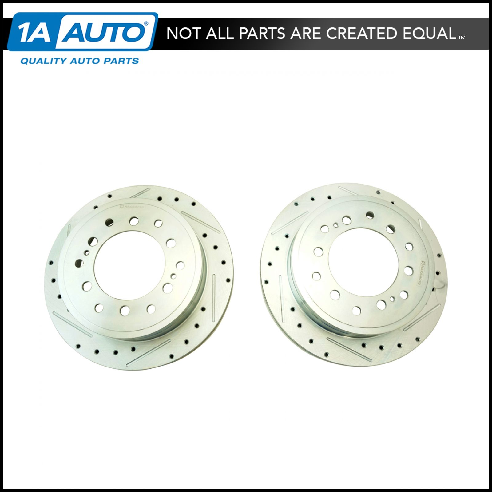 Performance Drilled Slotted Front Coated Brake Rotor Pair for GMC Truck