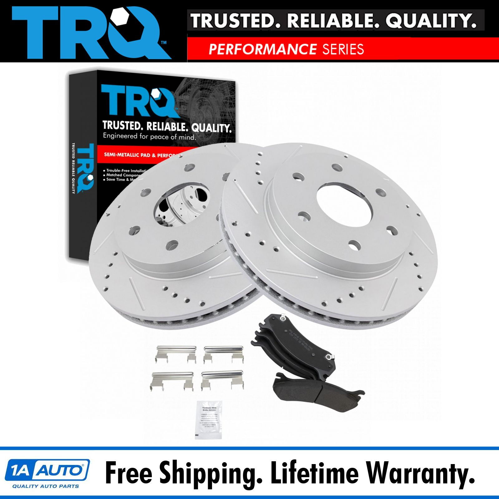 Nakamoto Performance Rotor Drilled Slotted /& Metallic Brake Pad Front /& Rear Kit