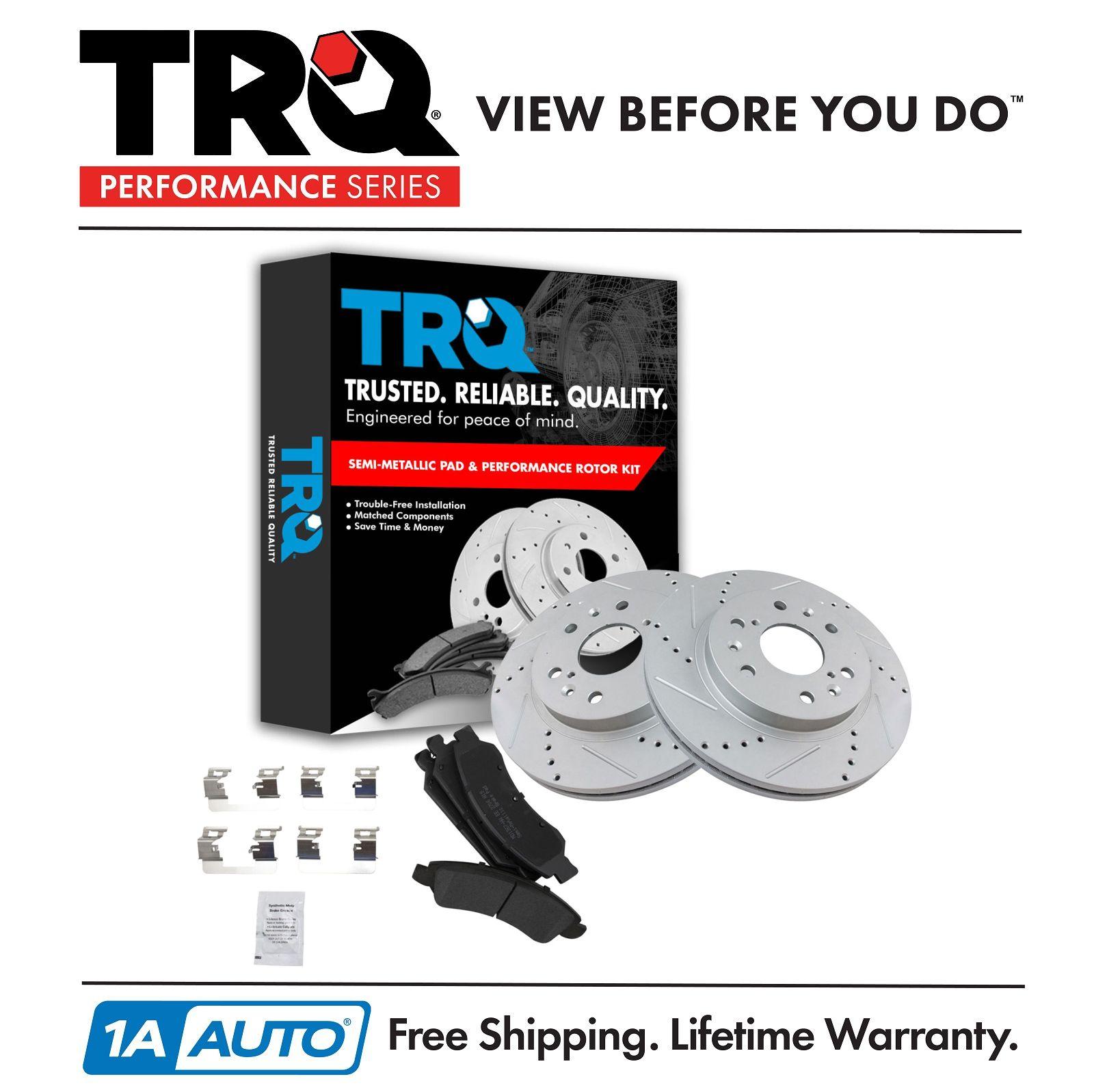 Front Posi Metallic Disc Brake Pad /& Performance Drilled Slotted  Rotors