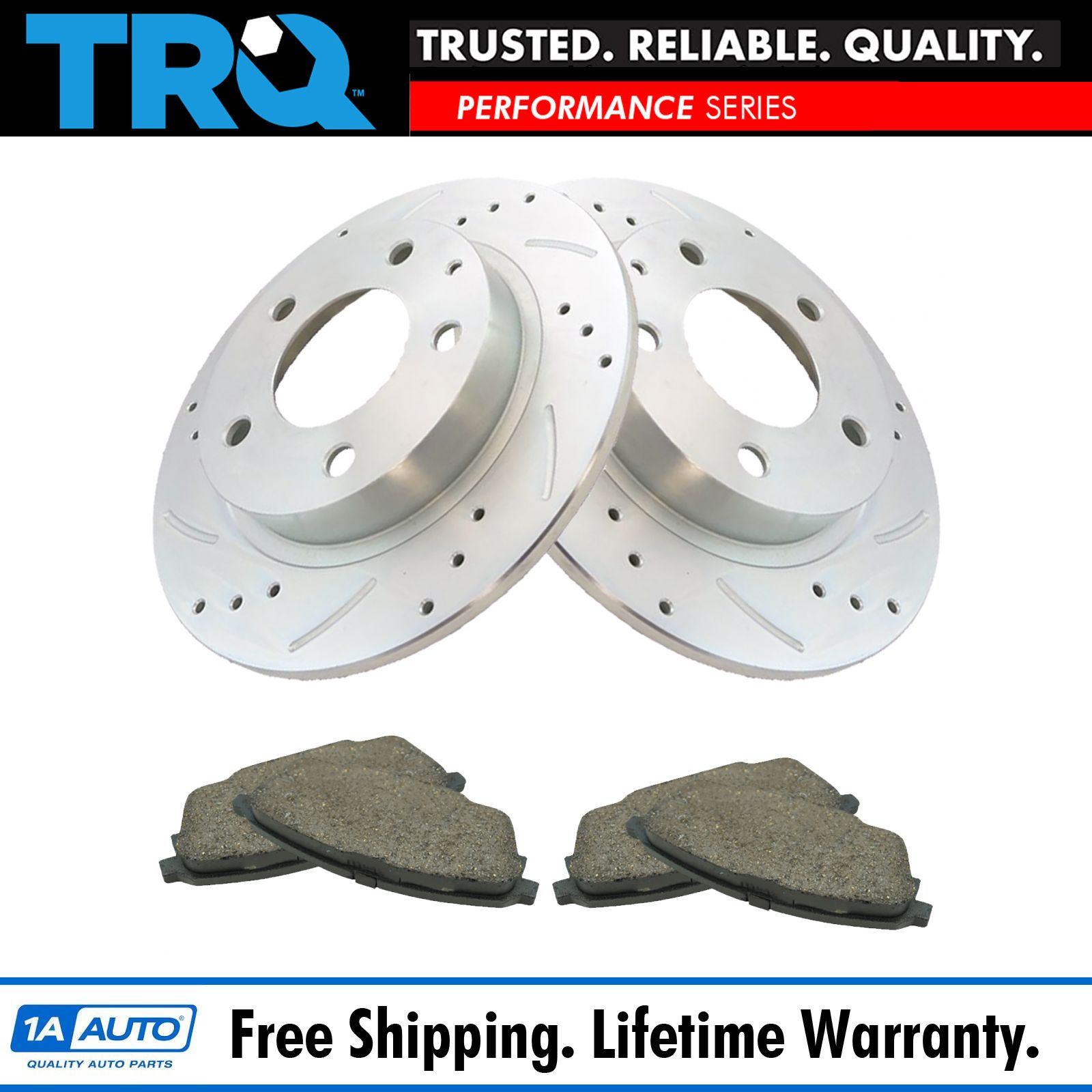 Front+Rear Cross Drilled Rotors /& Ceramic Pads for 2003 Mazda Protege Mazdaspeed