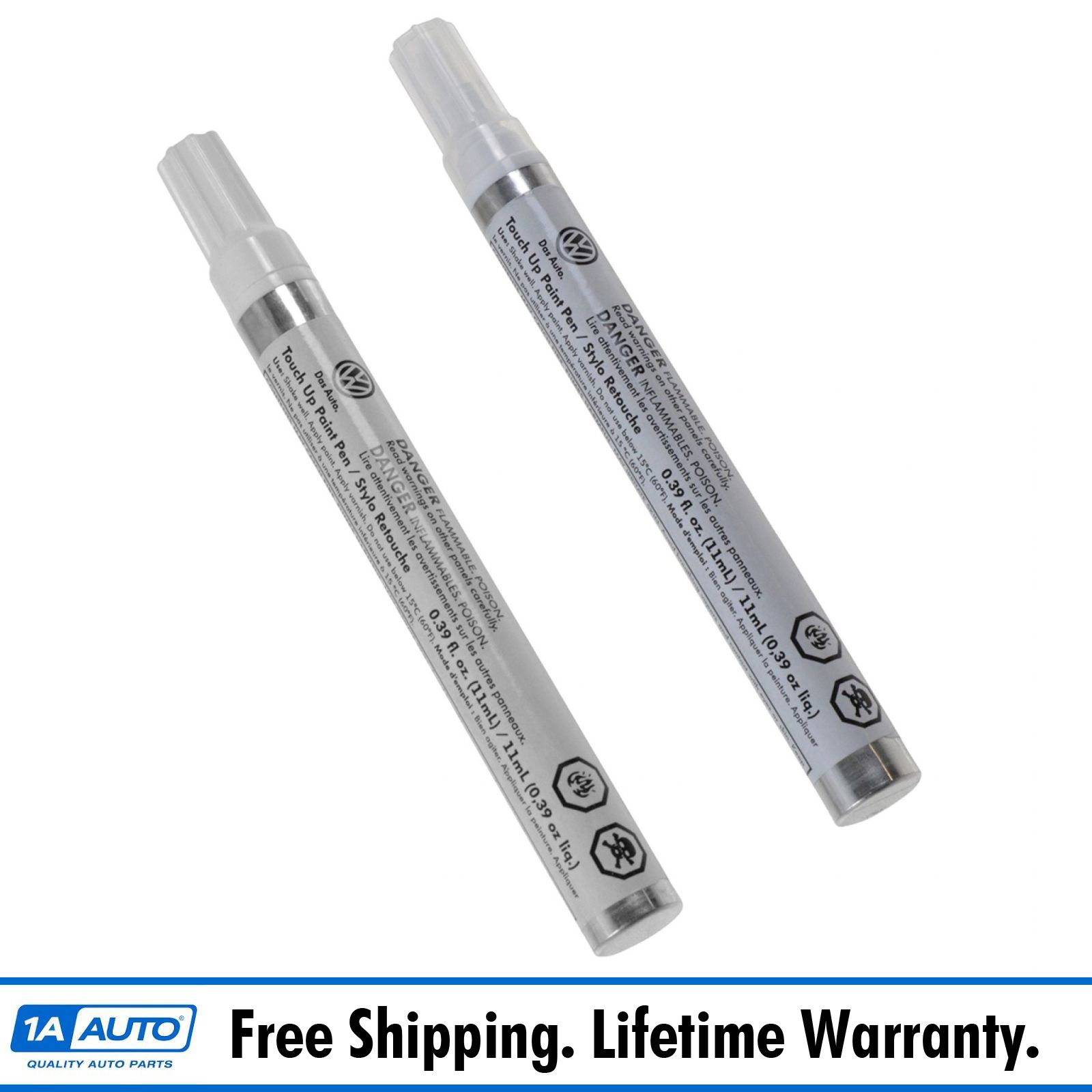Volkswagen Touch Up Paint: OEM Touch-Up Paint Pen Pure White LC9A Color Code & Clear