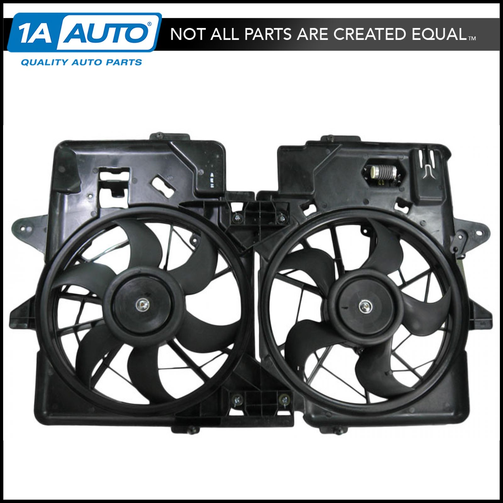 Radiator Dual Cooling Fan Assembly for 01-04 Ford Escape Mazda Tribute 3.0L