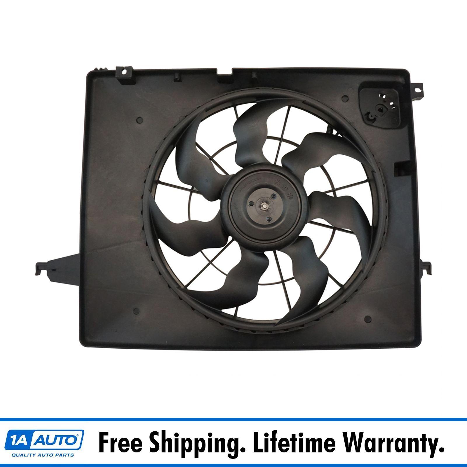 Engine Radiator Dual Cooling Fan Assembly for Kia Sorento Hyundai Sante Fe
