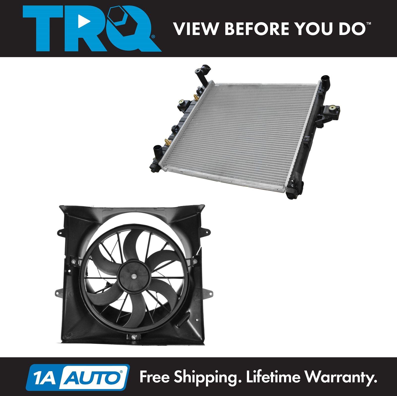 motor /& shroud Radiator Cooling Fan For 99-2003 Jeep Grand Cherokee w// blade