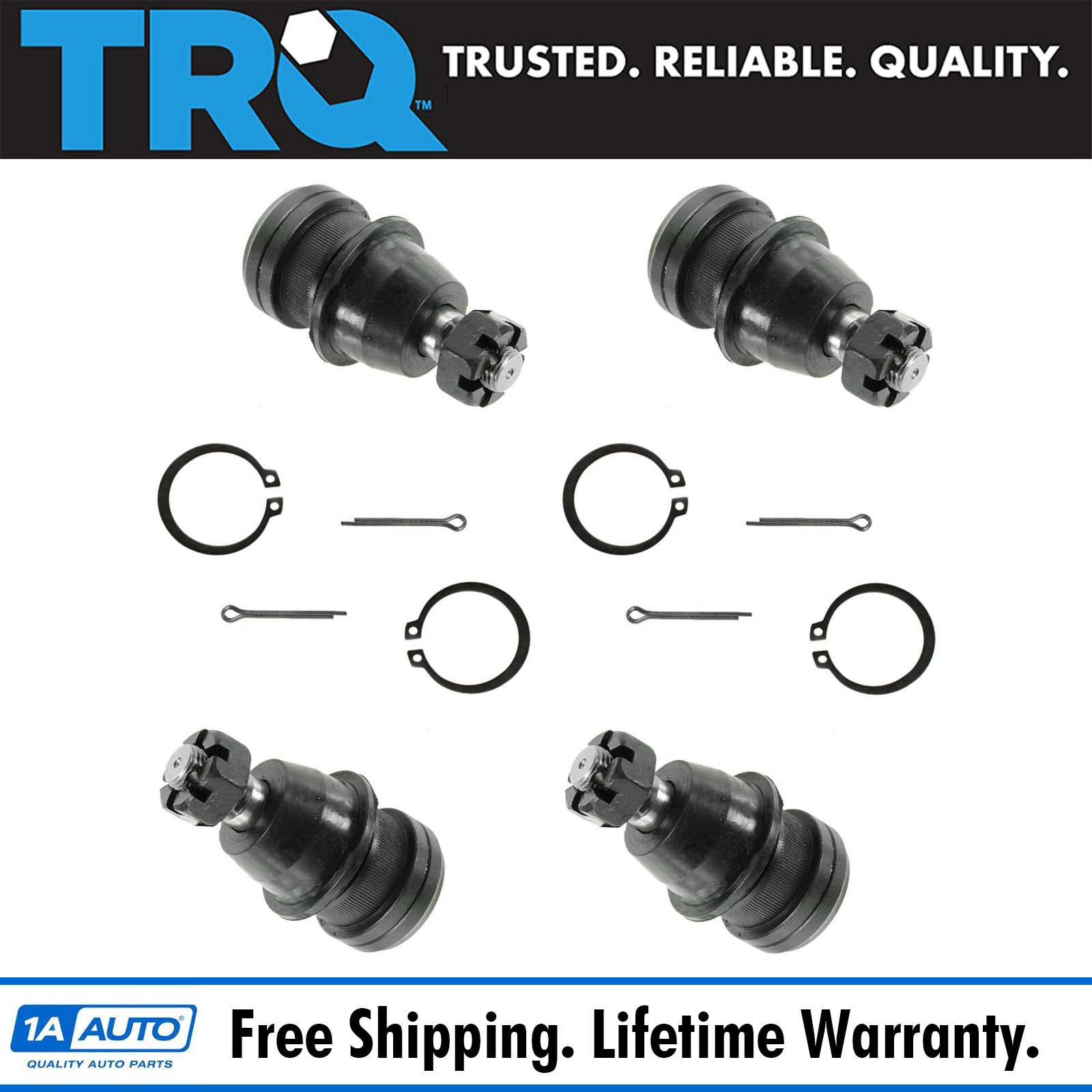 Front & Rear Upper Ball Joint Set Of 4 Kit For Dodge