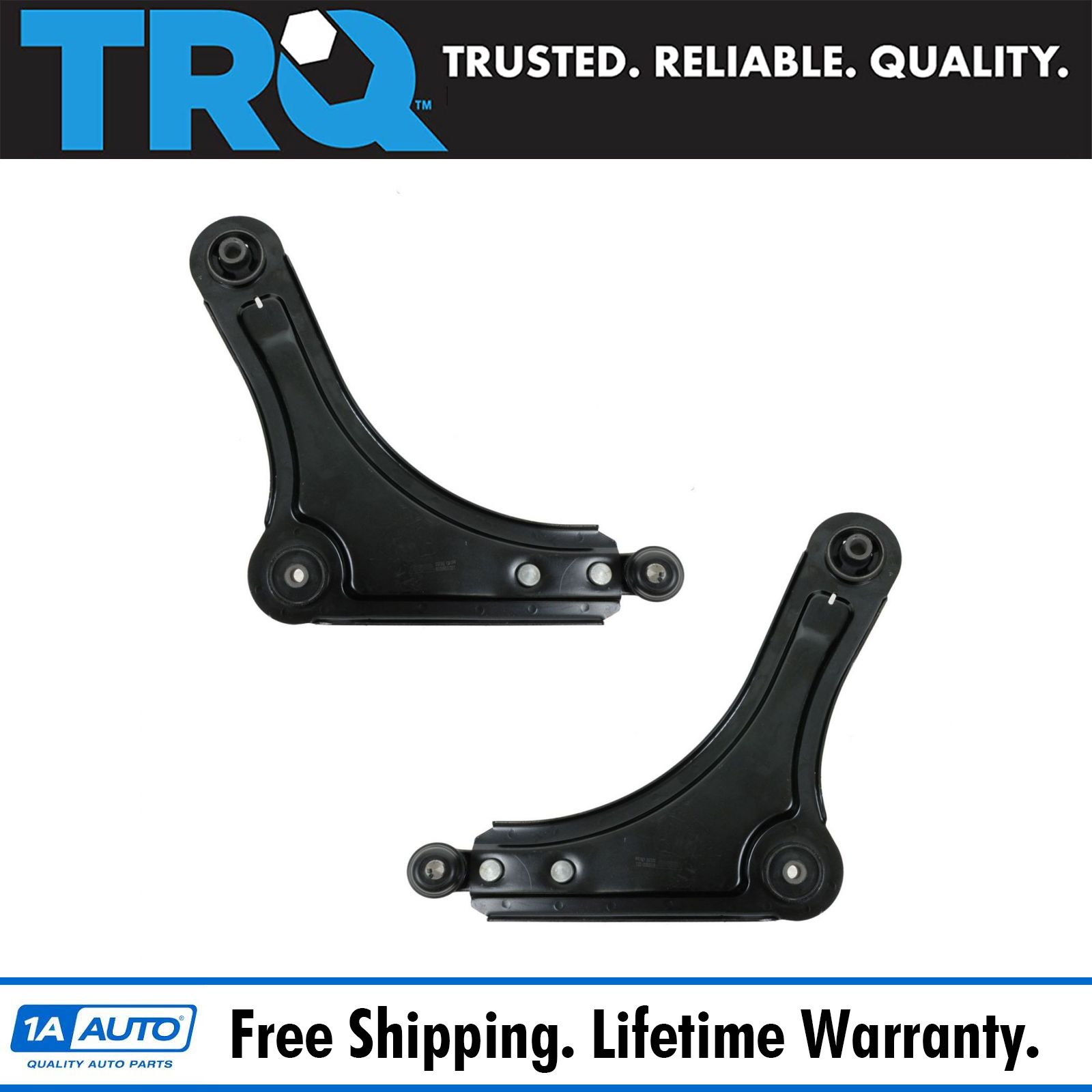 Front New Suspension Set 2 Lower Control Arm Pairs Kit For Daewoo Nubira