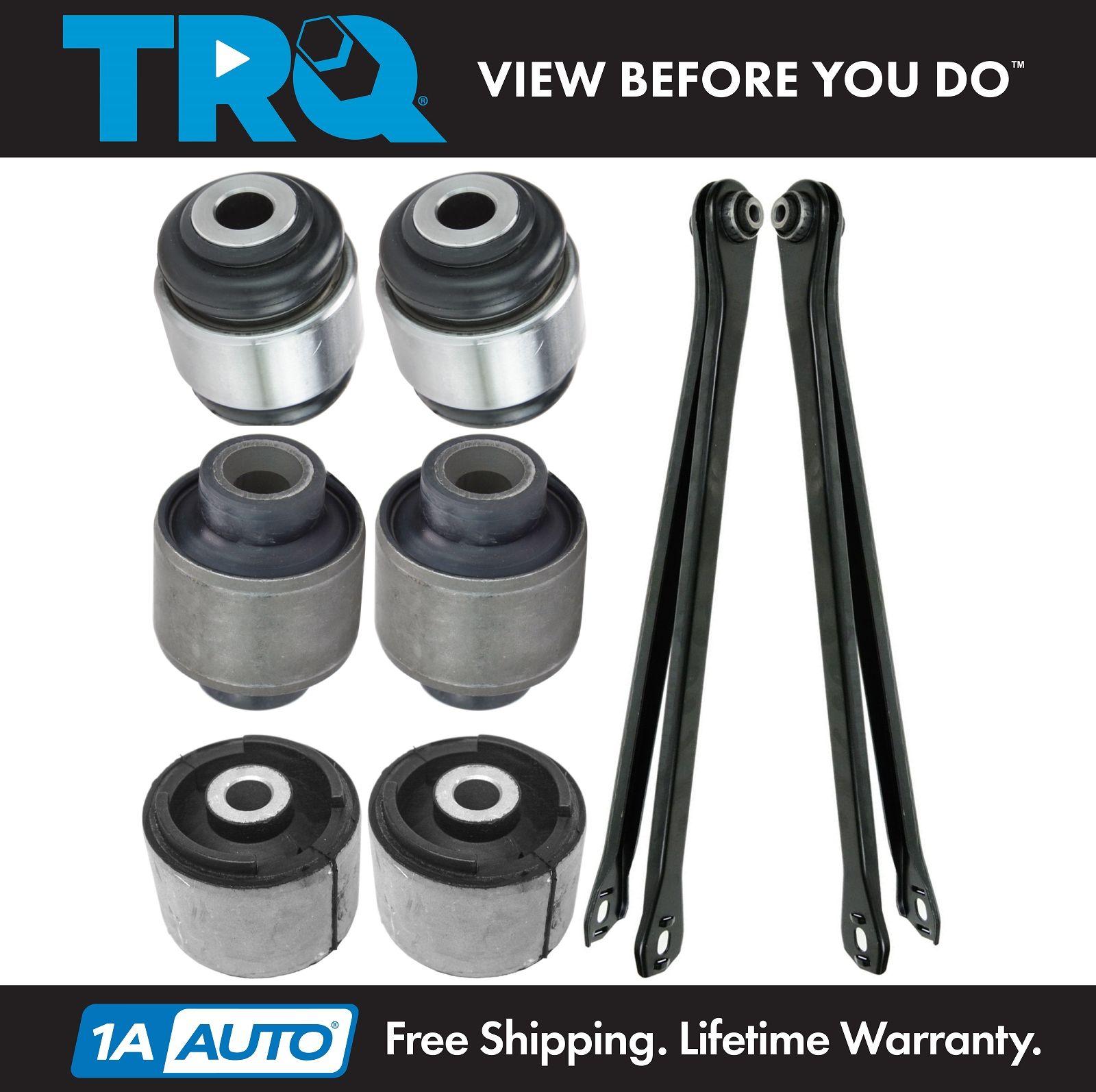 TRQ Rear Upper Inner Wishbone Bushing Pair Set Kit for BMW Z4 3 Series E46 E85
