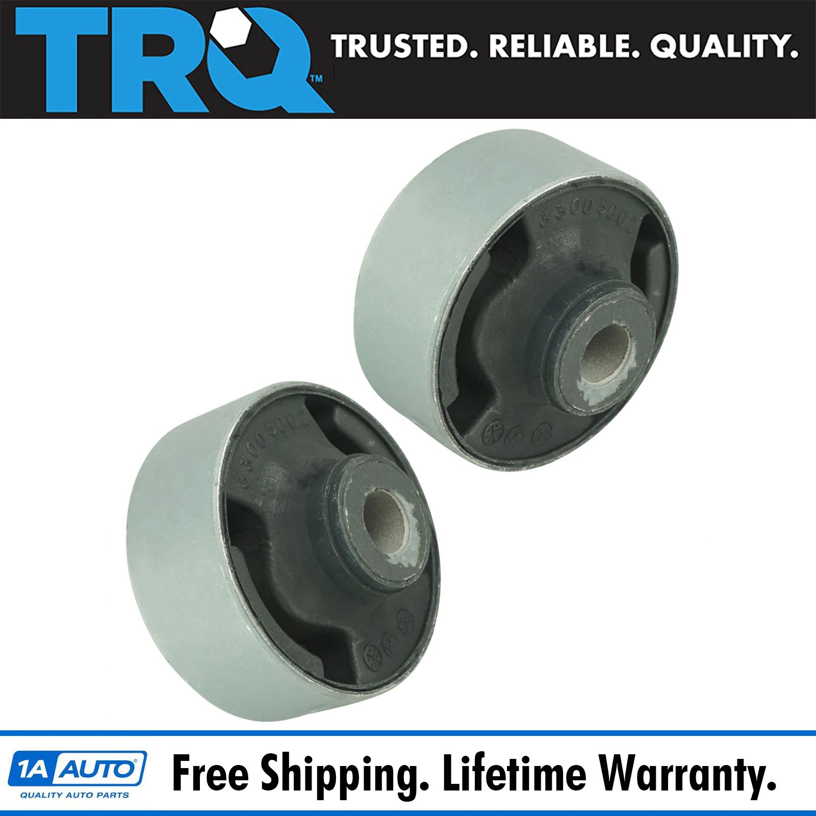 TRQ Front Lower Control Arm Inner Forward Bushing Pair For