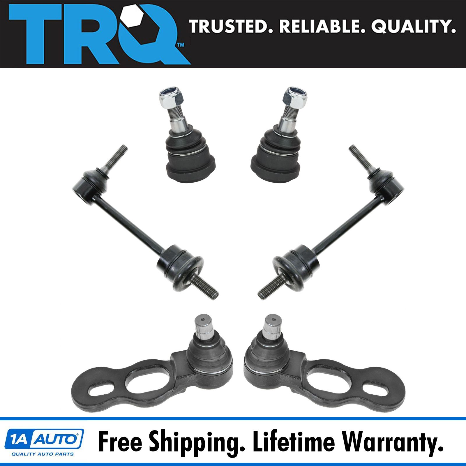 Details about Ball Joint Sway Bar Front Upper Lower Link Kit Set for Crown  Victoria Town Car