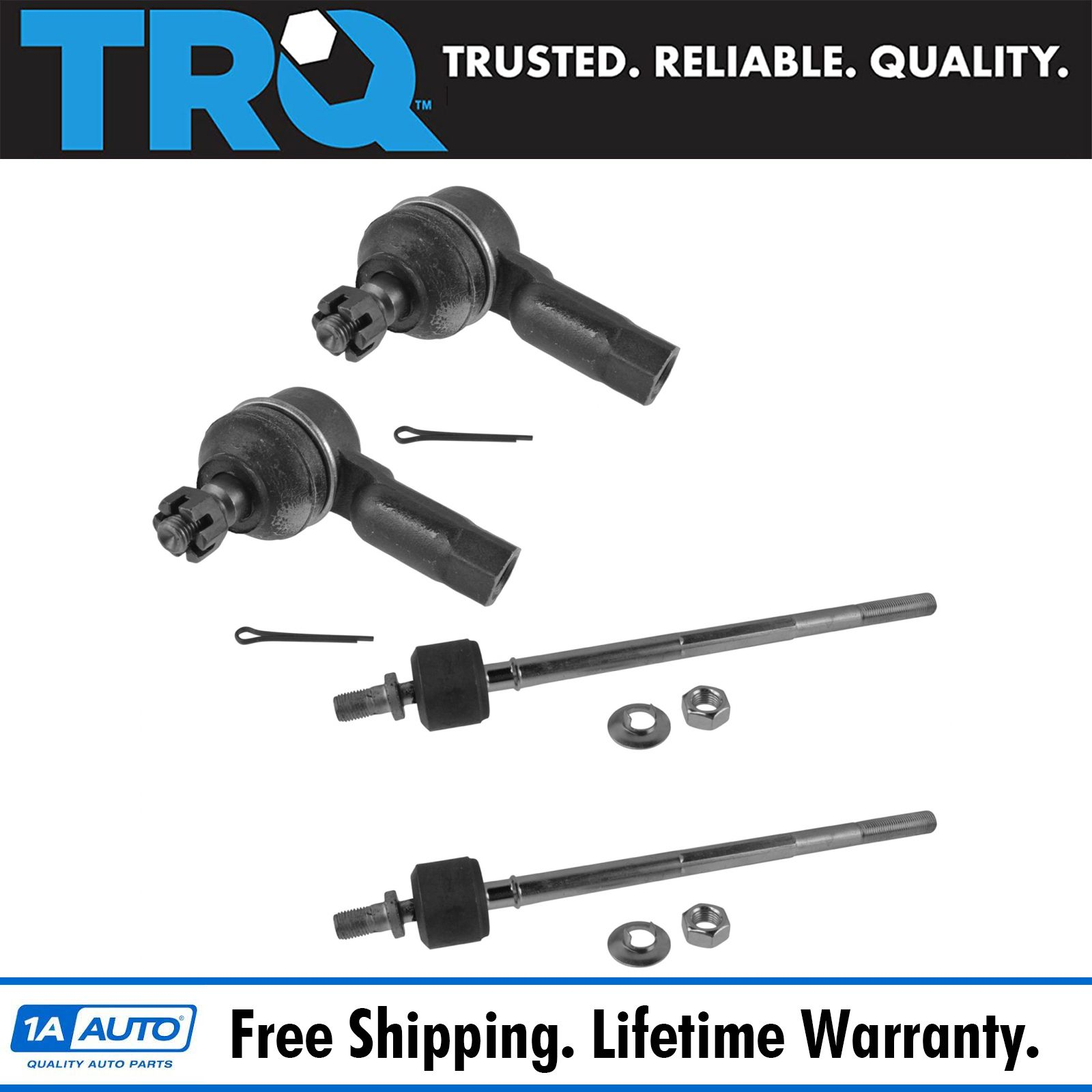 New 1 Piece Steering Front Outer Rh Tie Rod End 2 Year Warranty