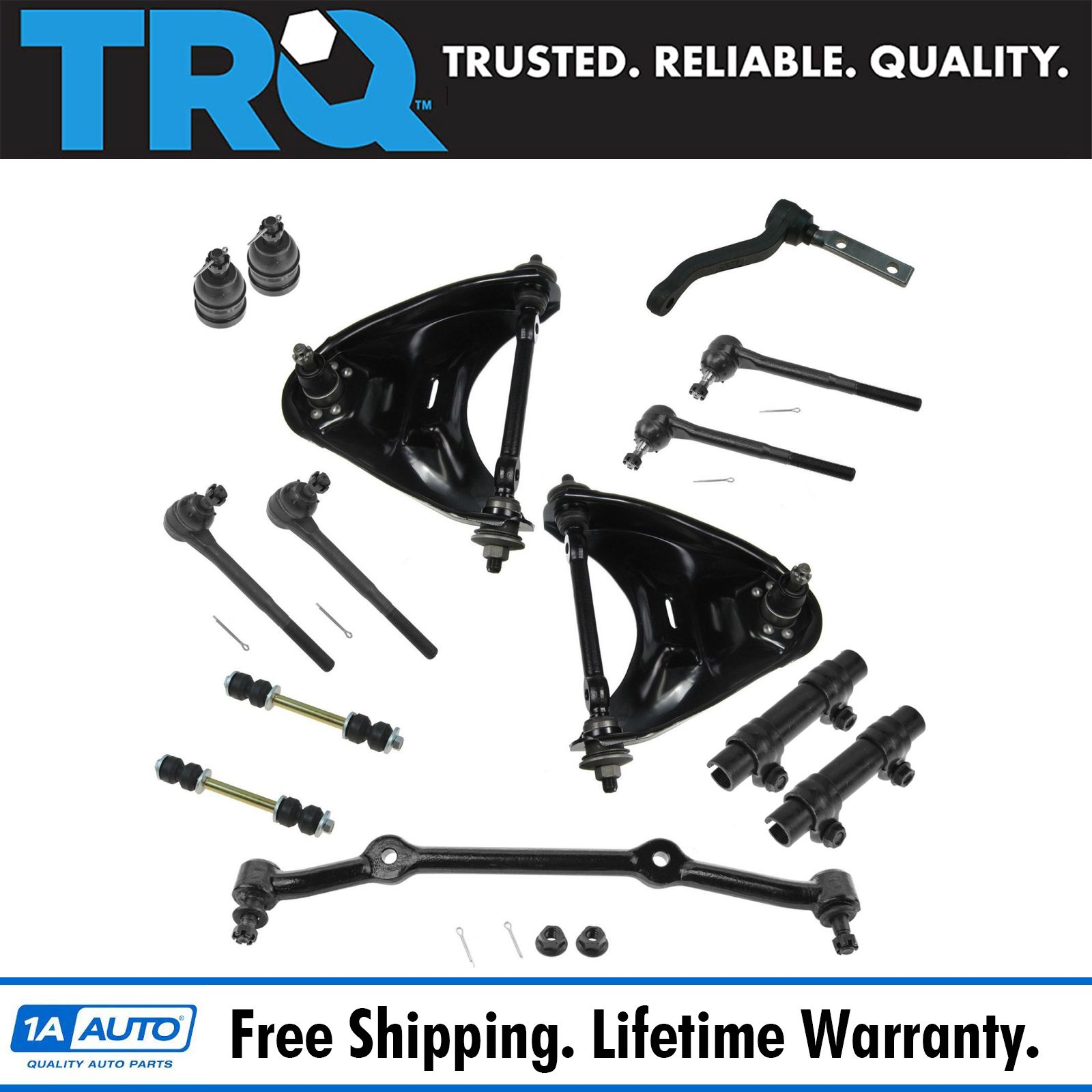TRQ Control Arm Ball Joint Tie Rod End Sway Bar Link of 14 ...