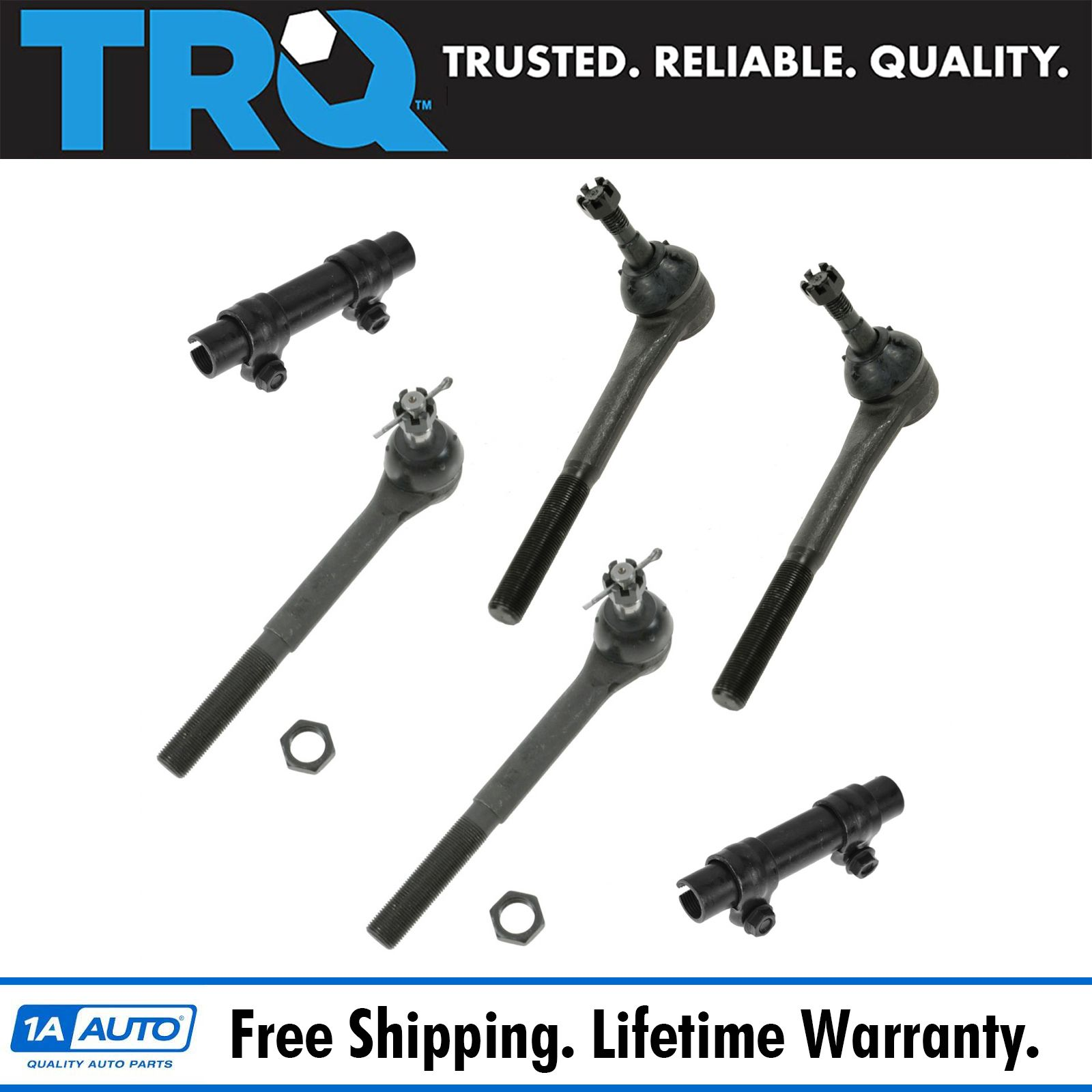 Brand New Front Inner and Outer Tie Rod End Links for Chevy C3500 GMC 4pc Kit