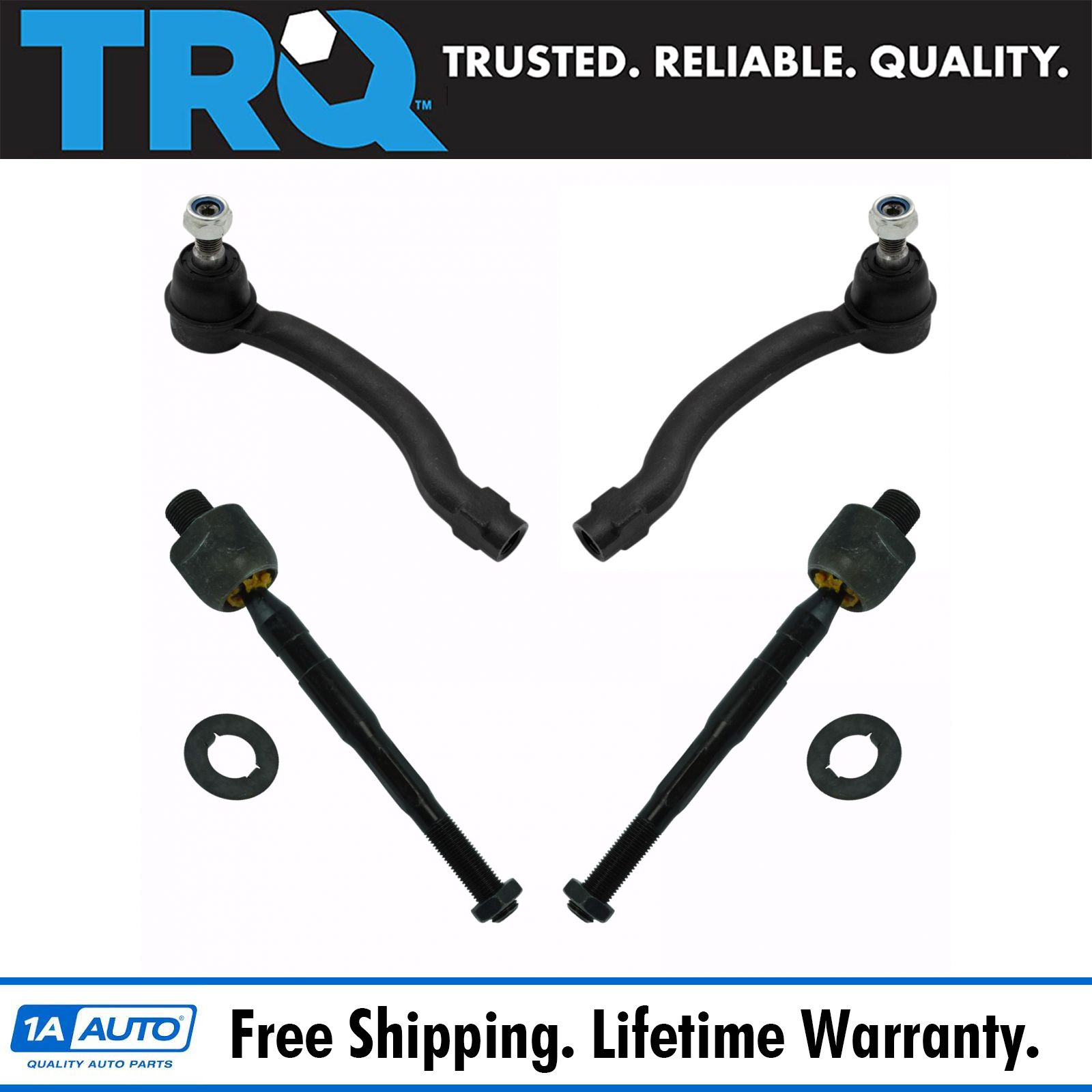 Inner /& Outer Tie Rod End Front LH RH Set of 4 for Honda Pilot Acura MDX