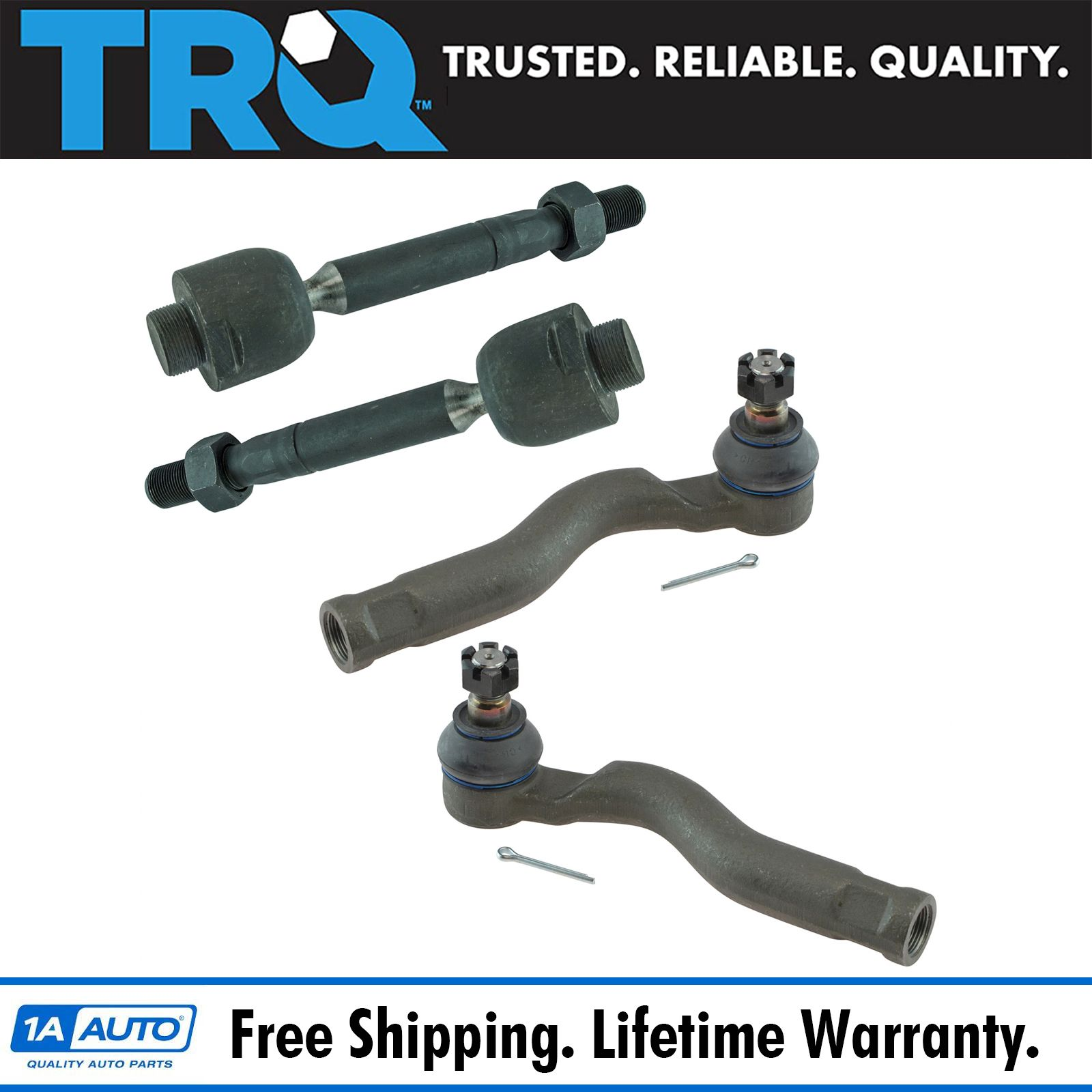 Tie Rod End Inner Outer LH RH Set of 4 for Tundra Sequoia Pickup Truck SUV New