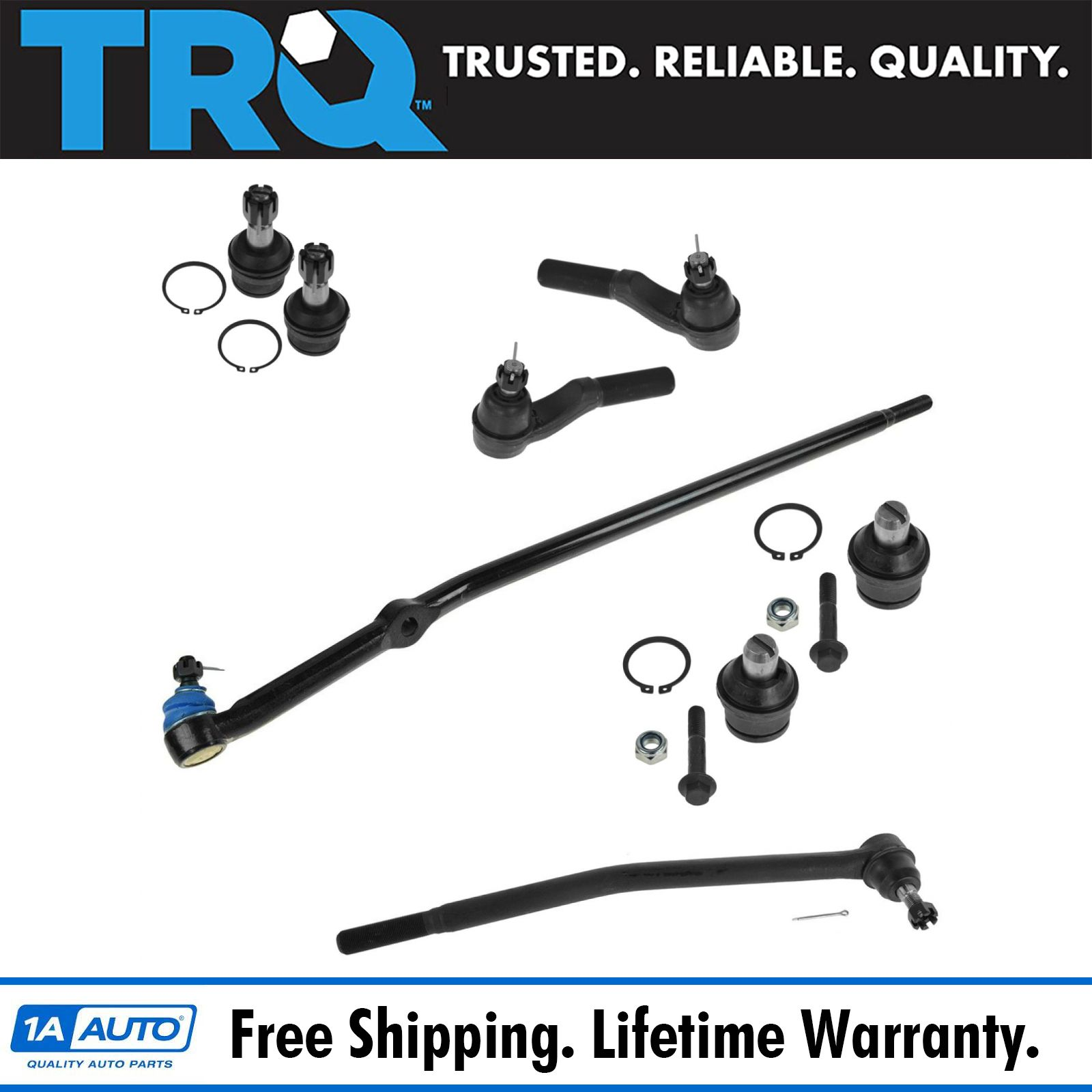 Inner Steering Tie Rod End fits 2011 Chrysler Town /& Country for Left /& Right Side Set of 2