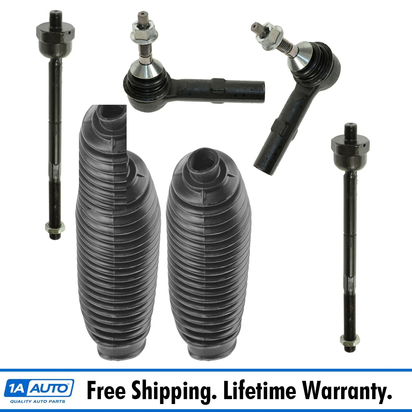 PartsW 6 Piece Kit Inner and Outer Tie Rod Ends Left and Right Front Sway Bar End Links
