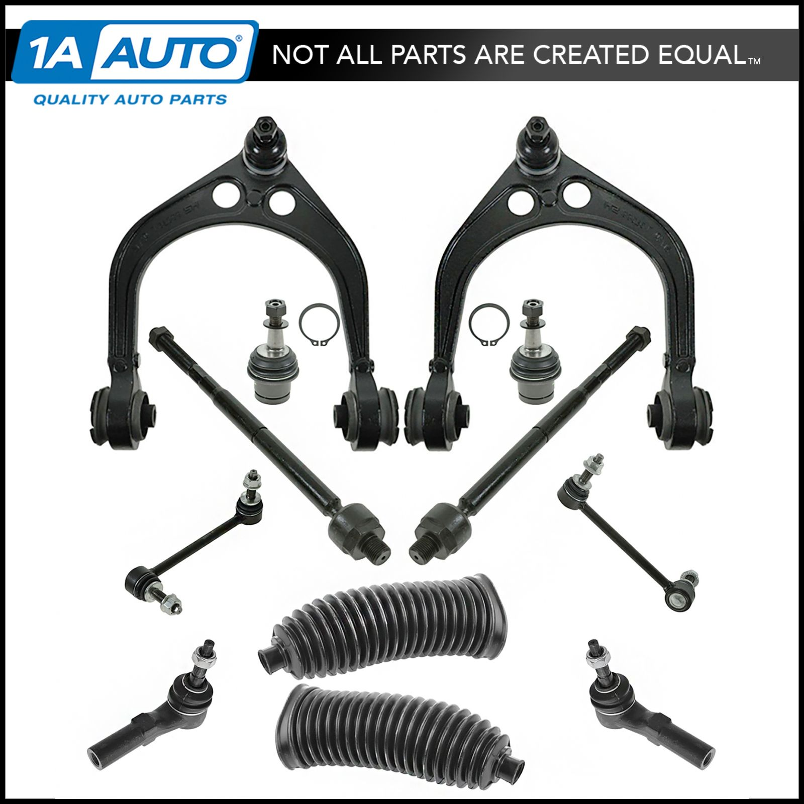 Brand New 2 Front Outer Tie Rod End Link Steering Kit Fits 2005-10 Chrysler 300