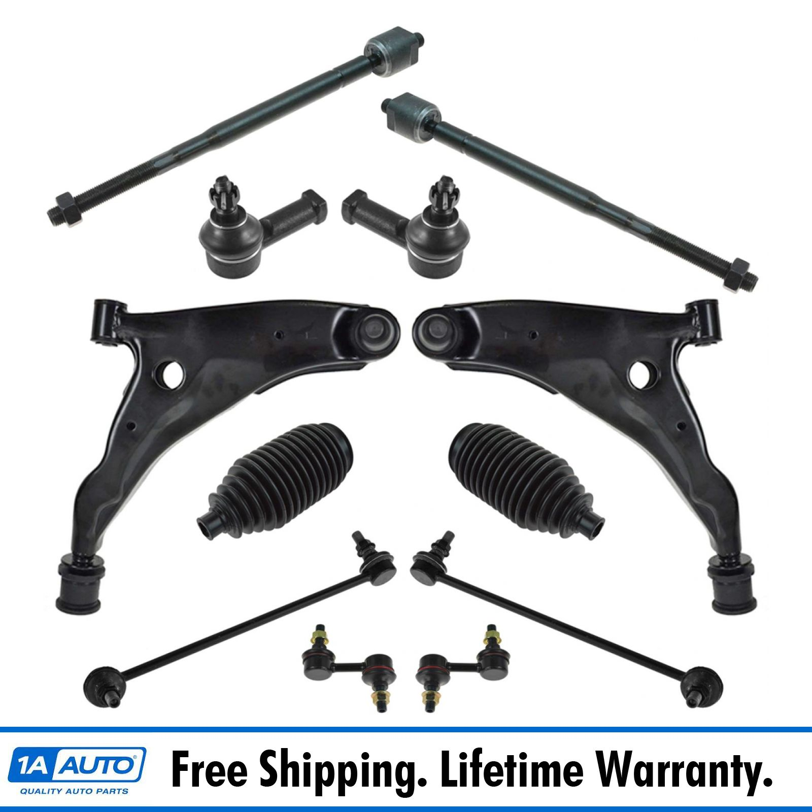 12 Pc Suspension Kit for Toyota Corolla Front /& Rear Sway Bars /& Tie Rod Ends