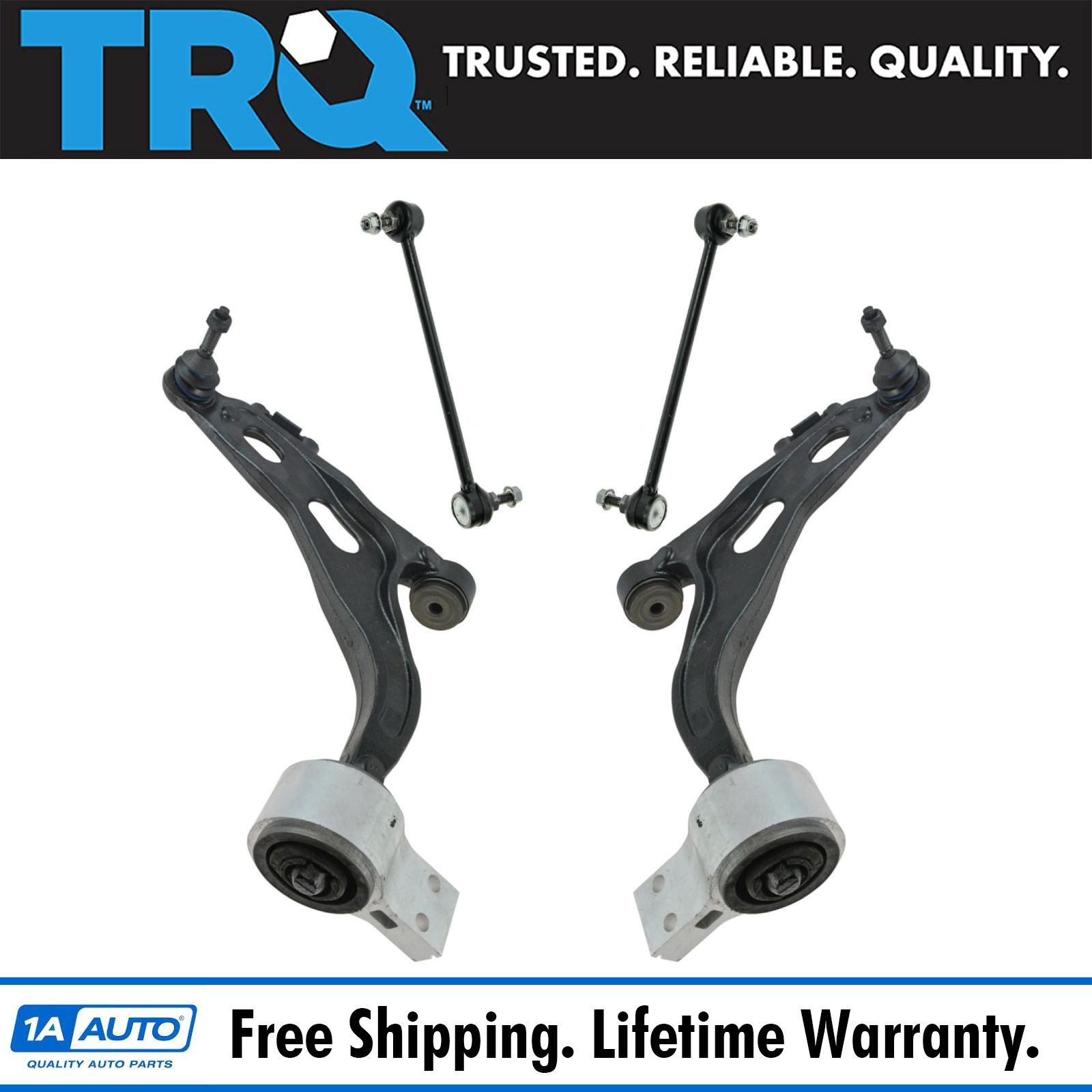 TRQ Suspension Kit Front Lower Control Arm Bracket Ball Joints for GM Truck SUV