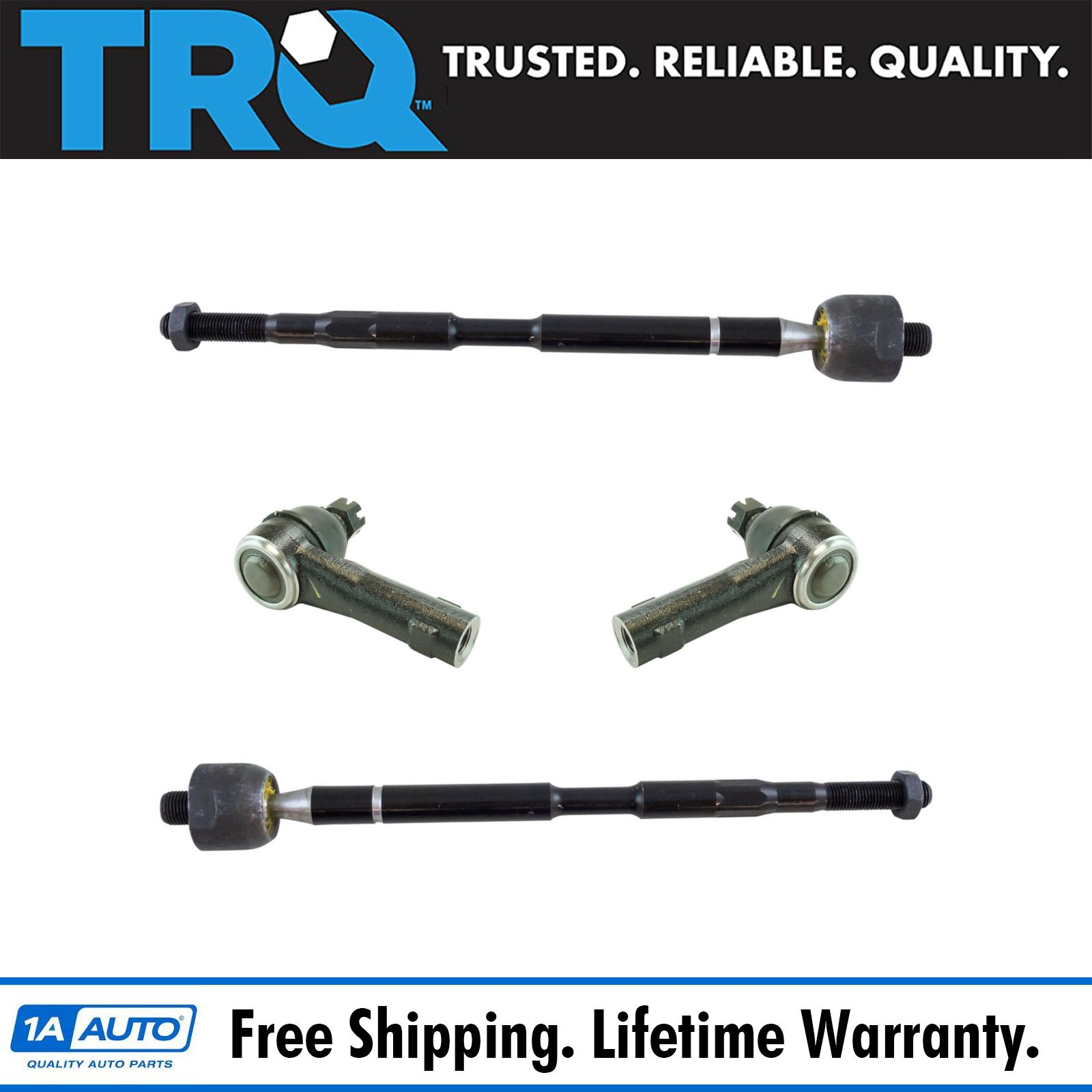 4 Piece Kit Inner /& Outer Tie Rods