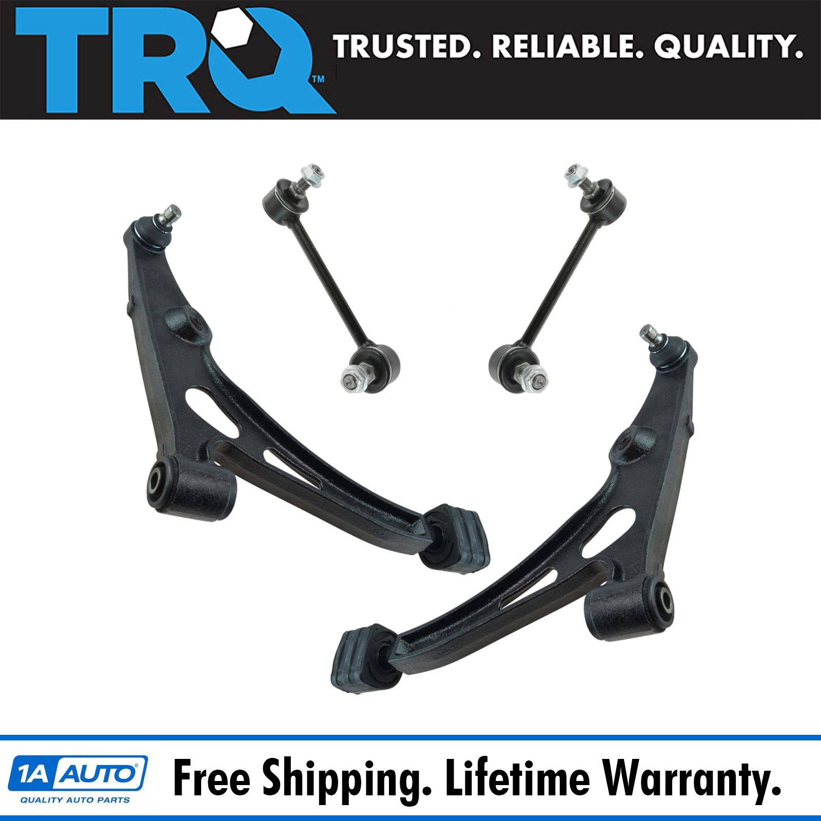 Front Control Arm Ball Joint Stabilizer Sway Bar Link Suspension Kit Set 4pc
