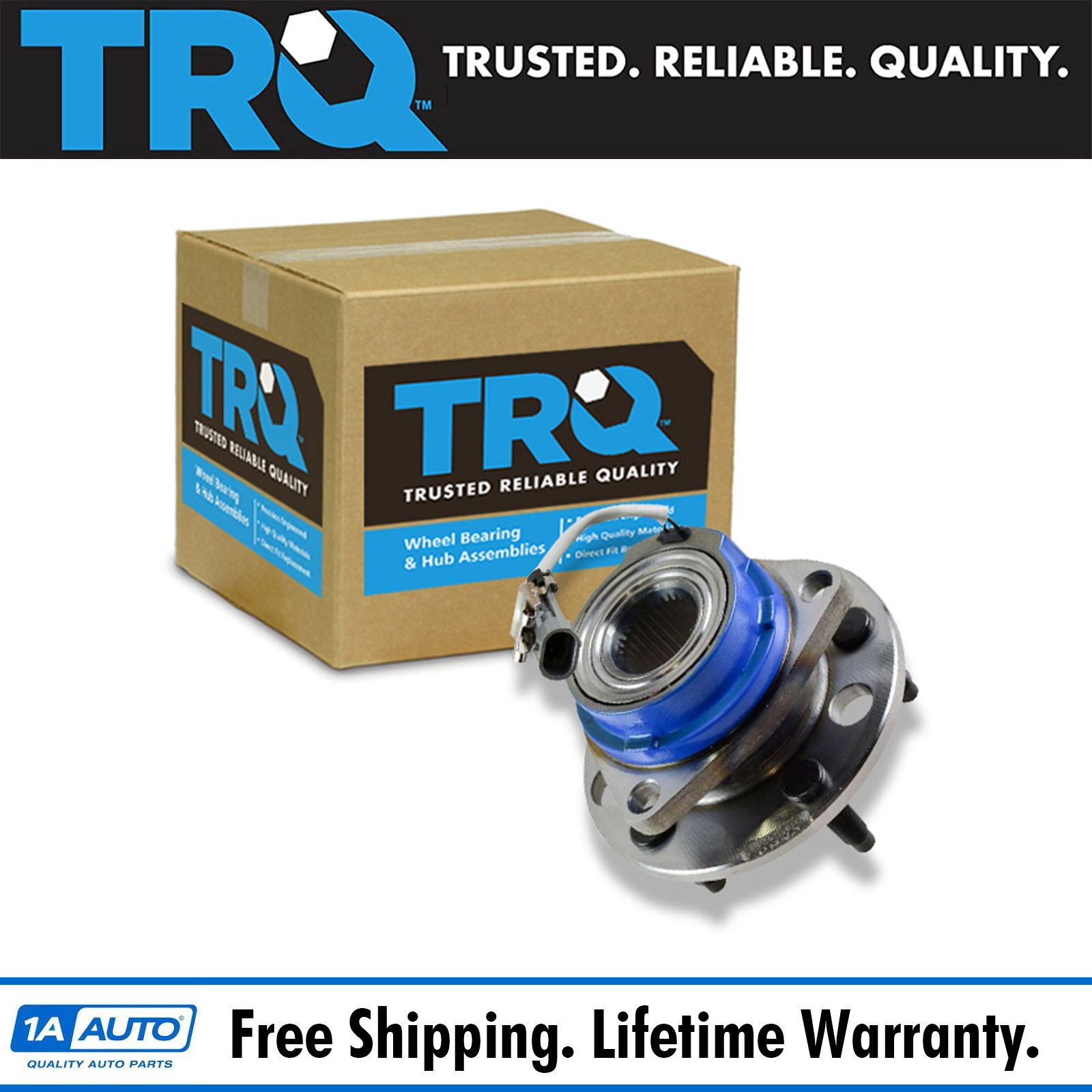 TRQ Front Wheel Hub & Bearing Left Or Right For Chevy