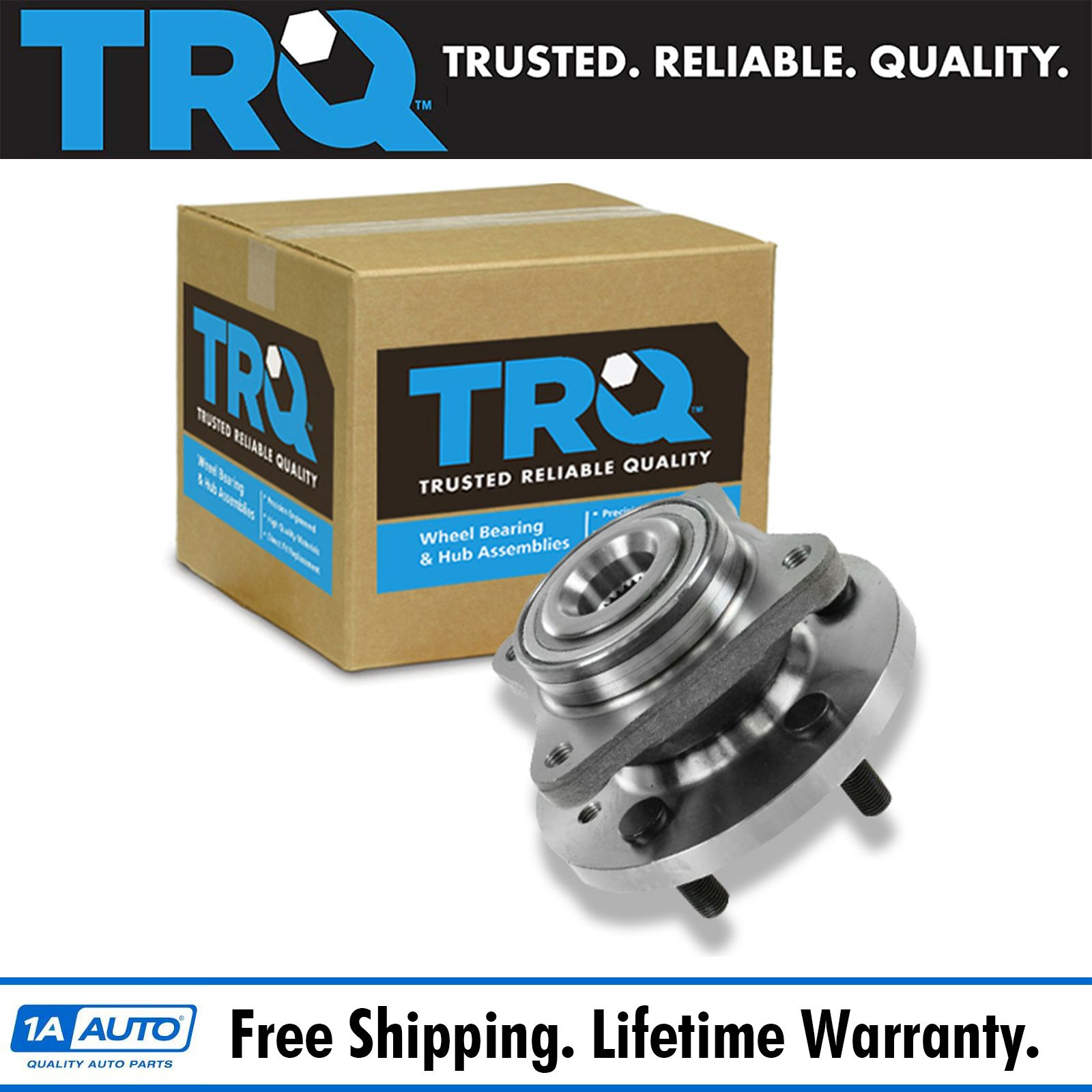 TRQ Front Wheel Hub & Bearing Assembly For Land Rover LR3
