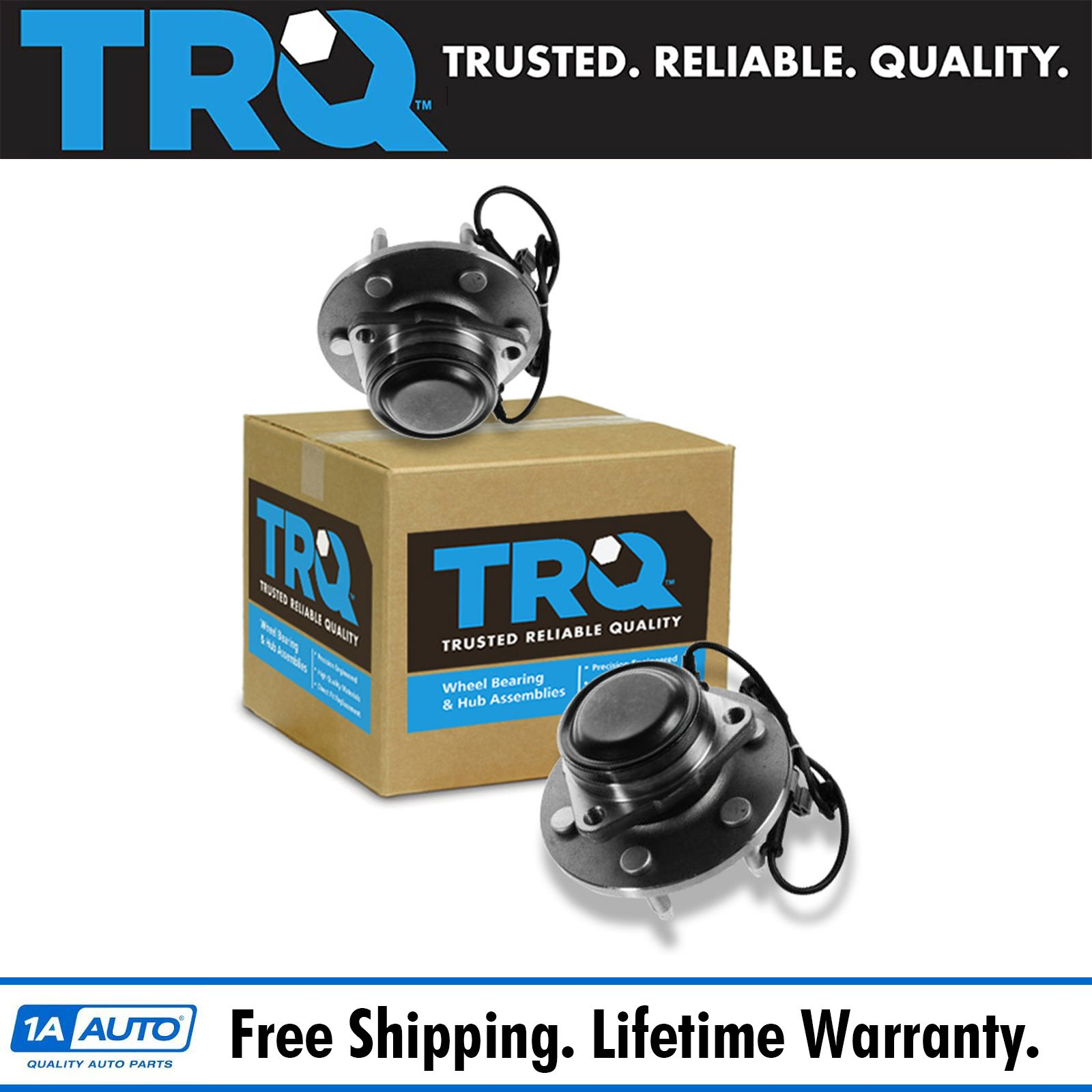 TRQ Front Wheel Hub /& Bearing Right RH Passenger Side for Chevy Pickup Truck 2WD
