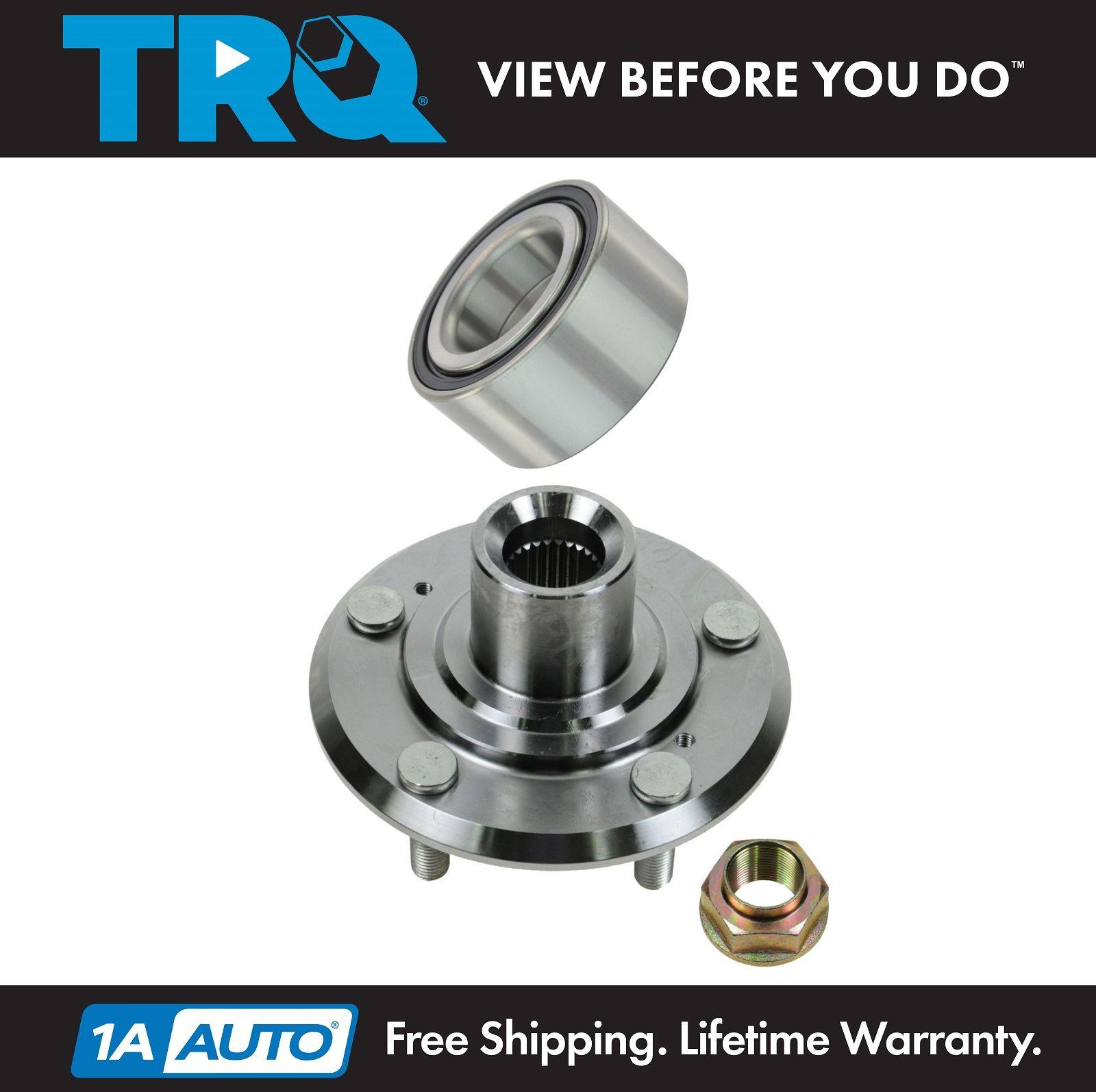 TRQ Front Wheel Hub /& Bearing Kit Left or Right for 00-11 Ford Focus