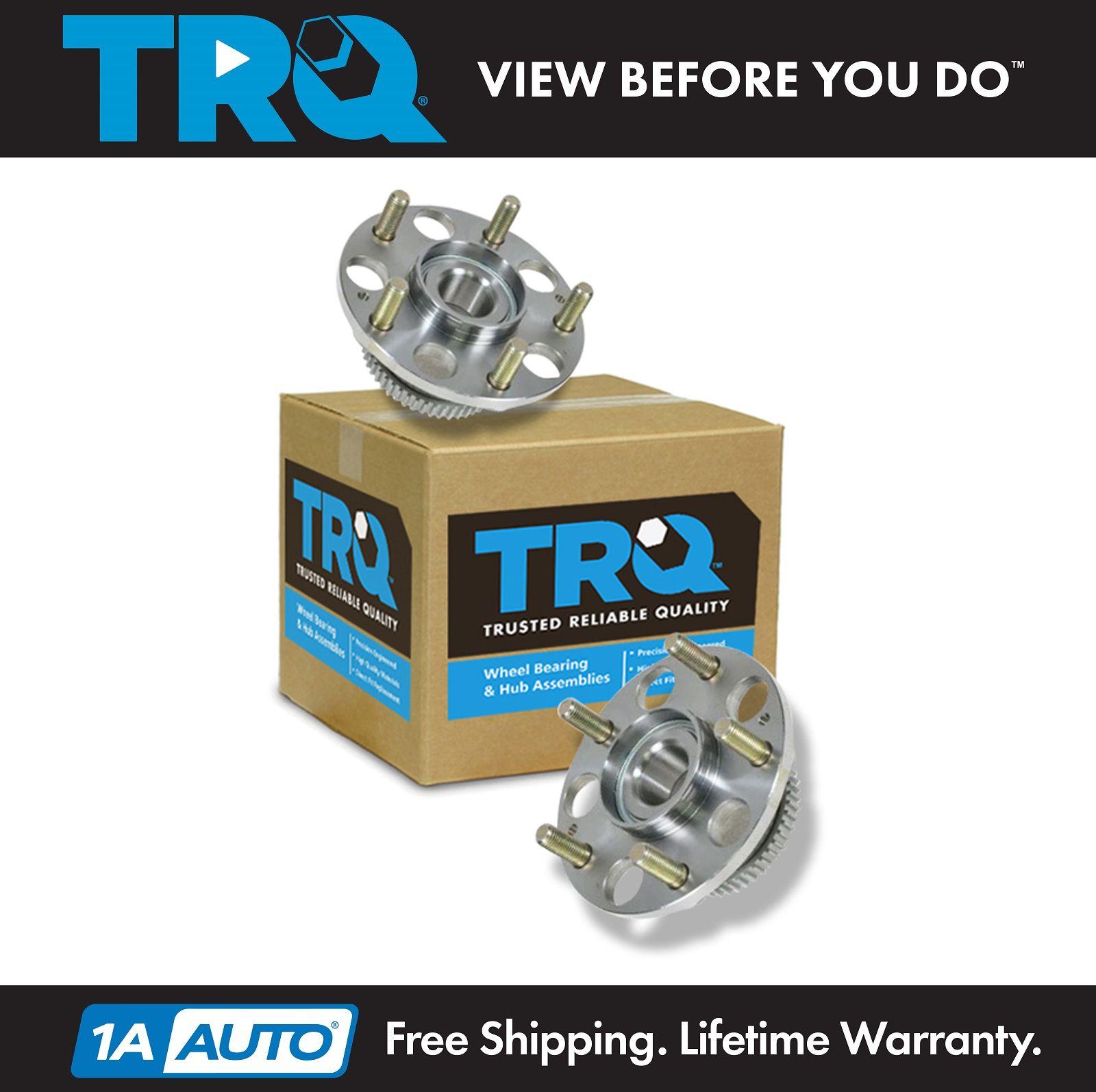 TRQ Rear Wheel Hubs & Bearings Pair For 03-07 Honda Accord