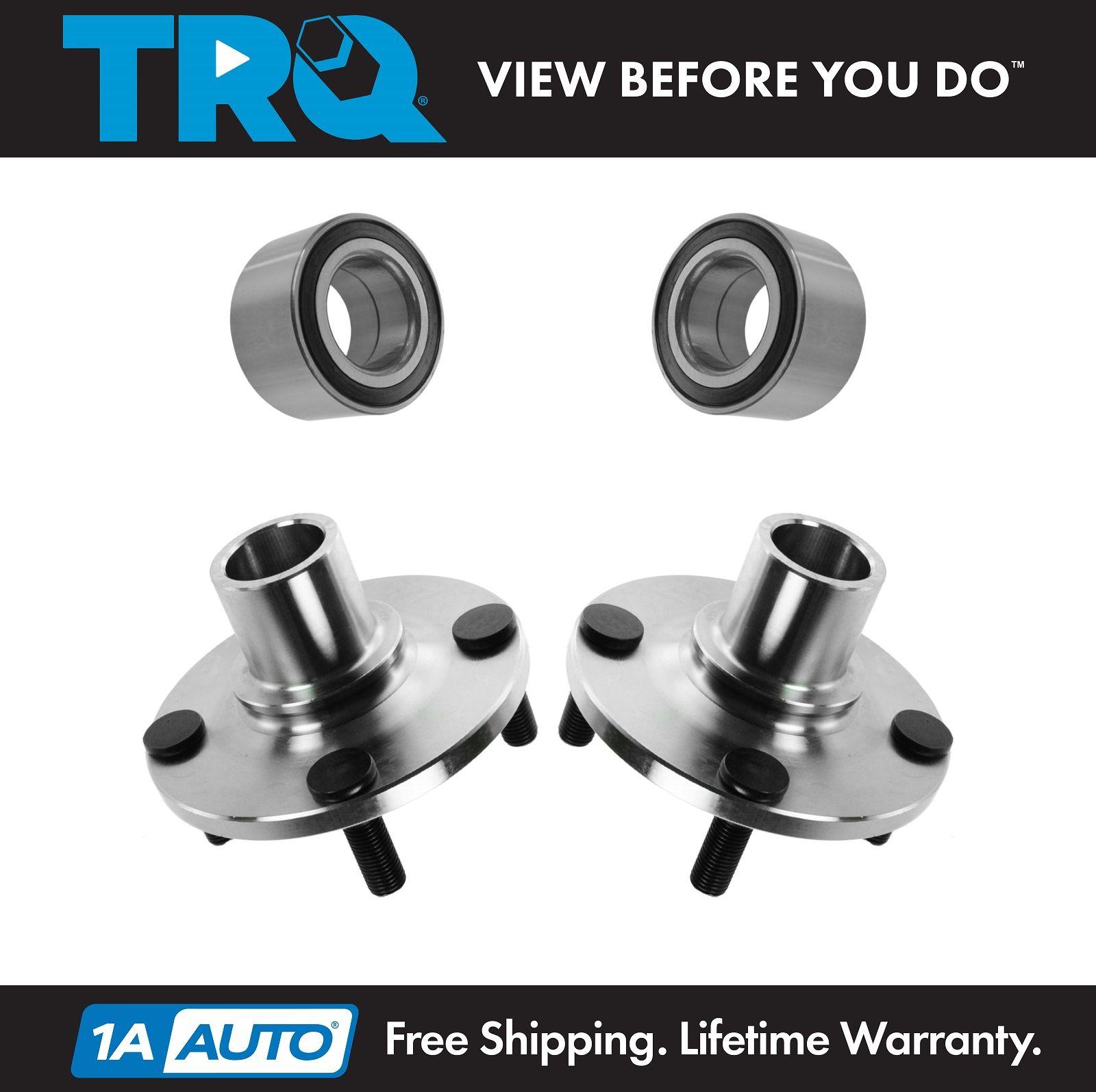 TRQ Rear Wheel Hub /& Bearing Pair Set for Acura TSX Honda Accord Hybrid