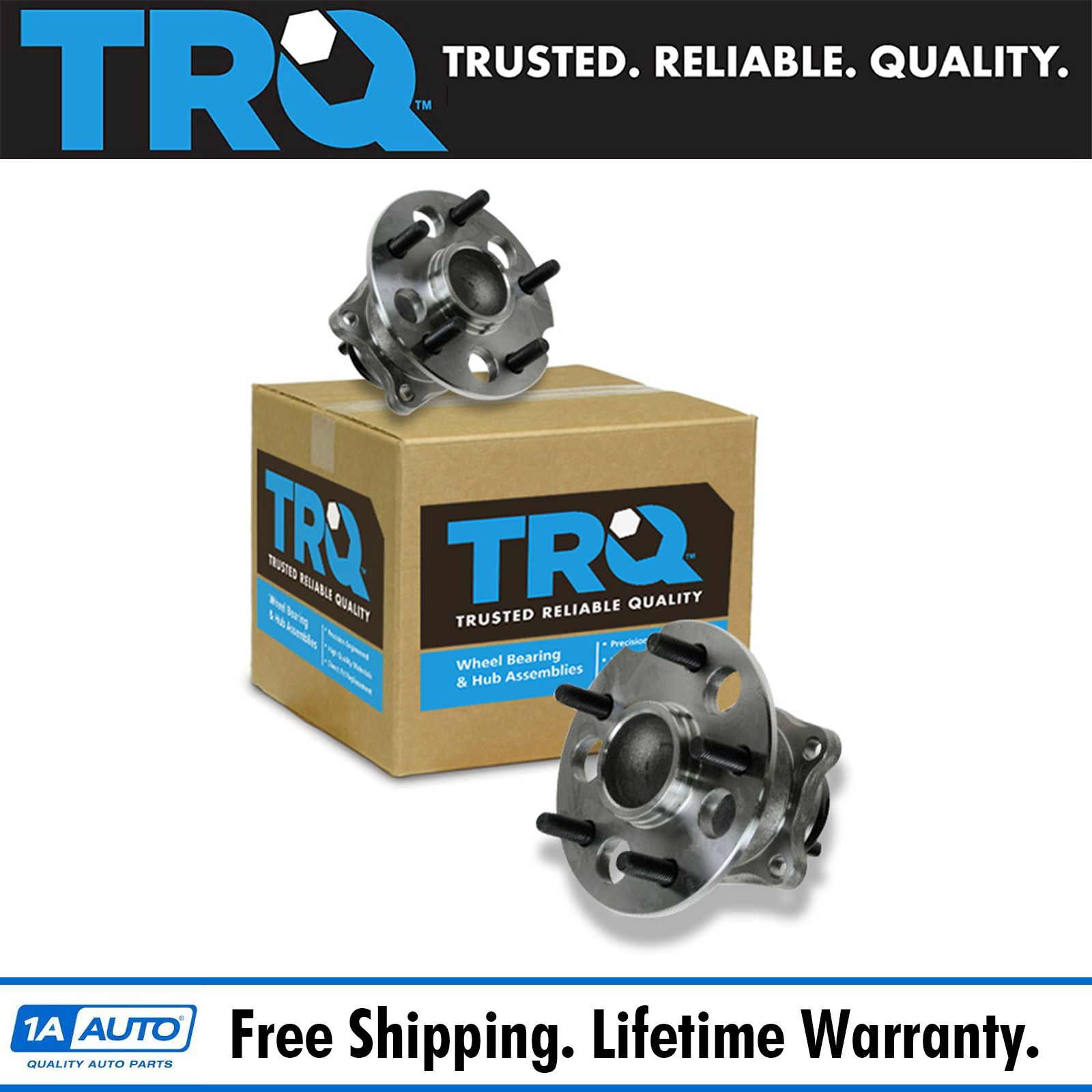 Details about TRQ Wheel Bearing & Hub Assembly Rear Pair for 04-10 Toyota  Sienna FWD 2WD NEW