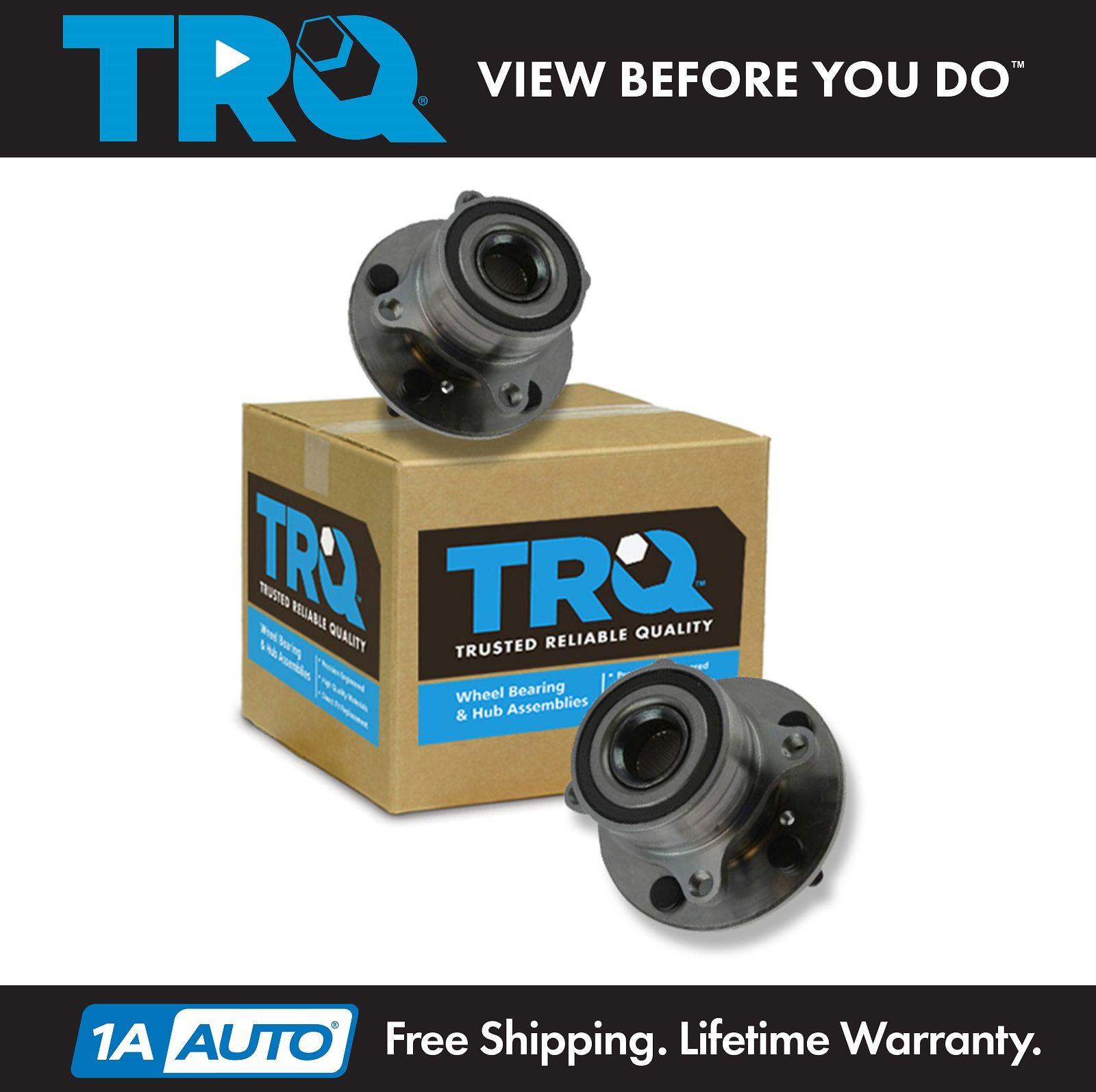 TRQ Front Wheel Hub & Bearing Driver & Passenger Pair For