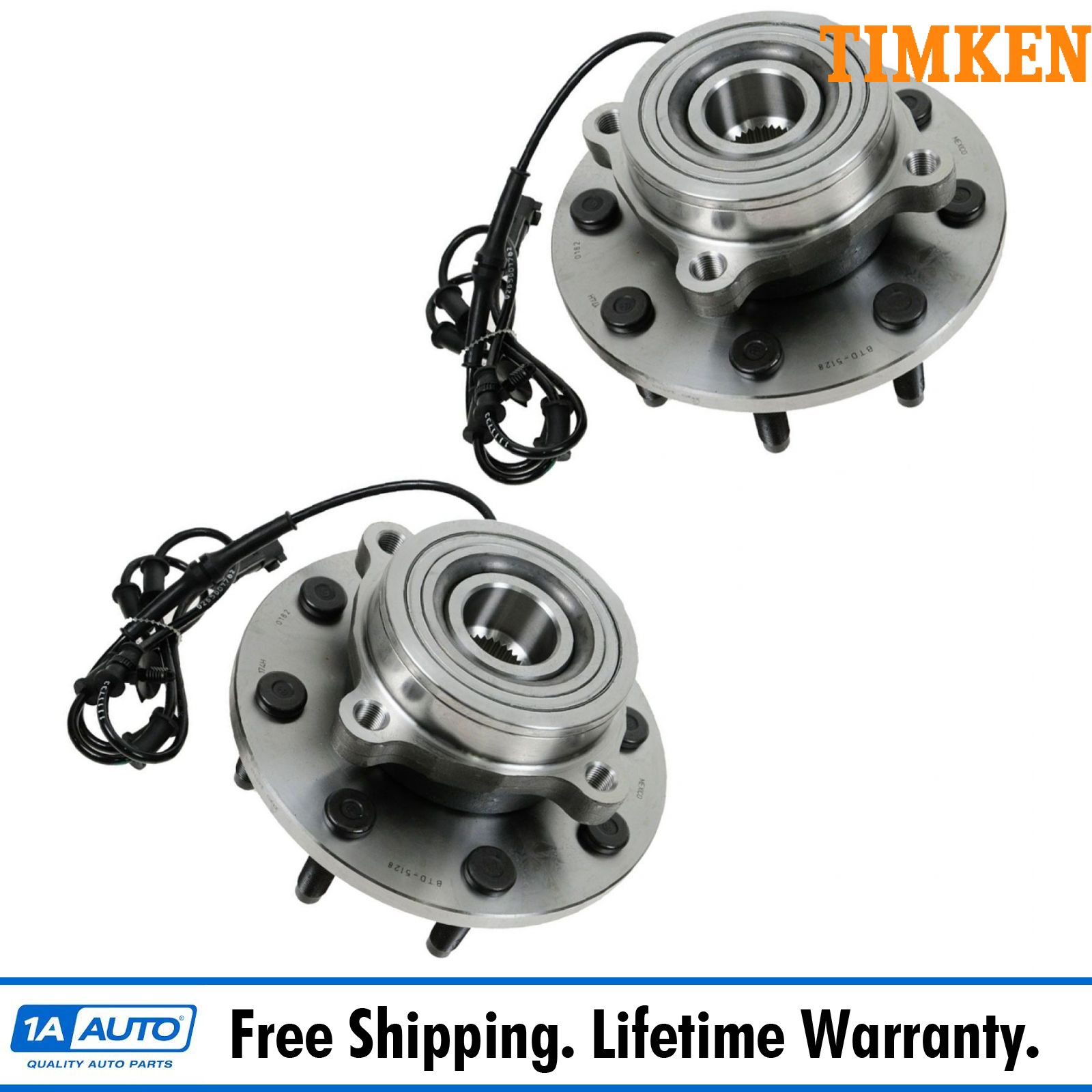 Front Wheel Bearing /& Hub Assemblies LH /& RH Side Set Pair for Dodge Ram
