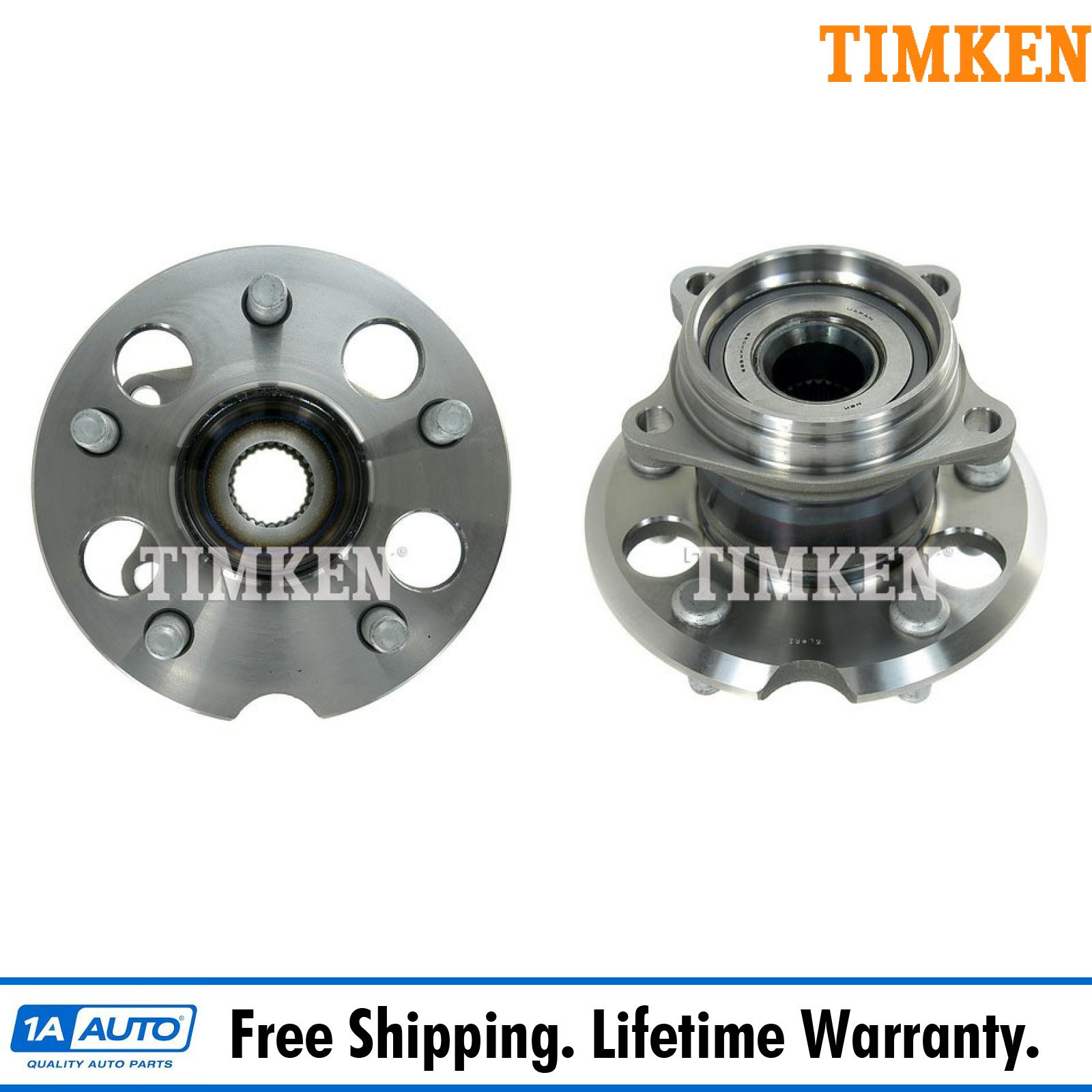 Pair of 2 Wheel Hub and Bearing Assembly Rear for 2001-2005 Toyota RAV4 4WD AWD