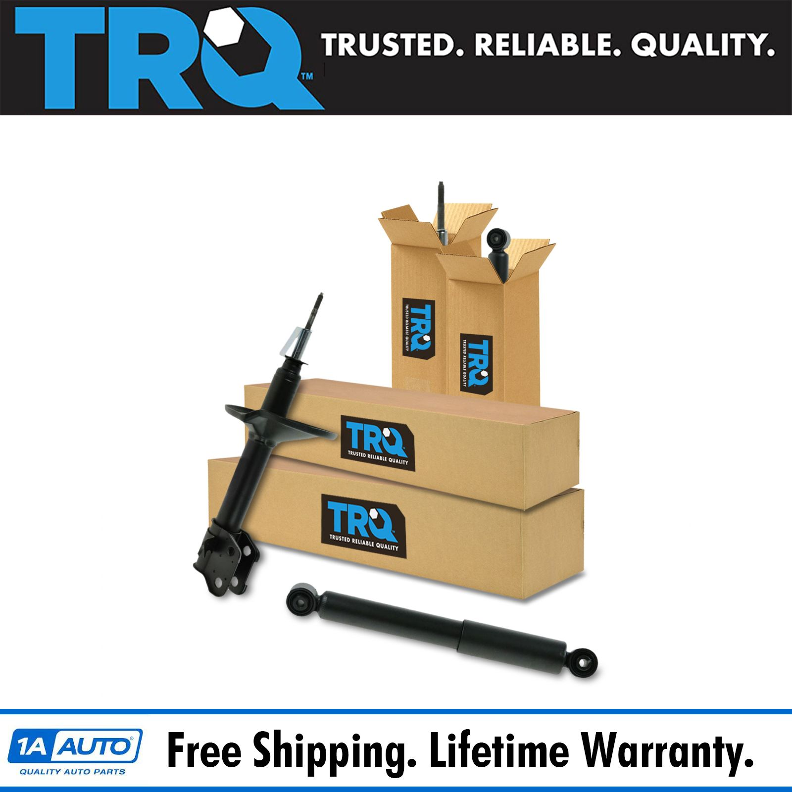 TRQ Front & Rear Strut Shock Assembly Set Of 4 For Acura