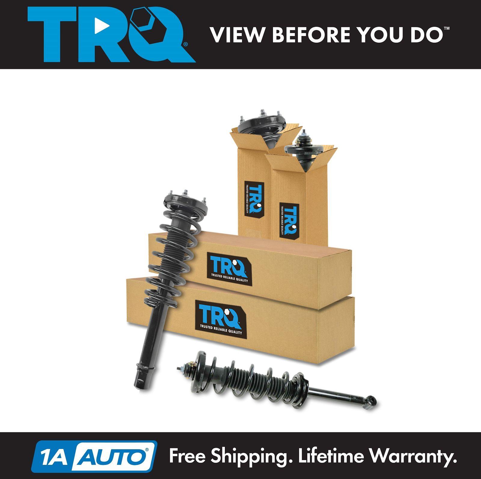 TRQ Complete Front Rear 4 Piece Shock Strut Spring