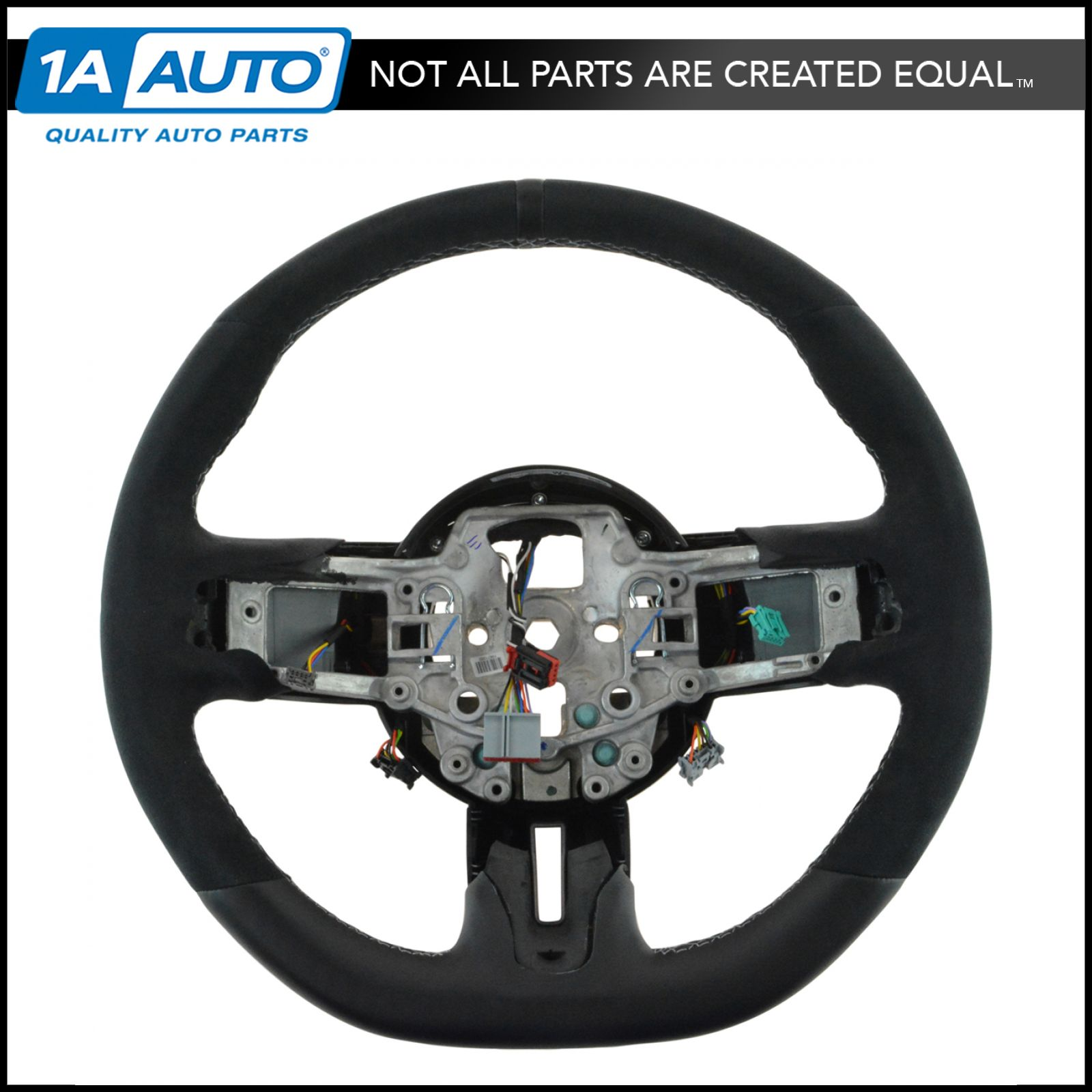 Details about oem fr3z3600ac steering wheel alcantara suede leather for ford mustang gt350