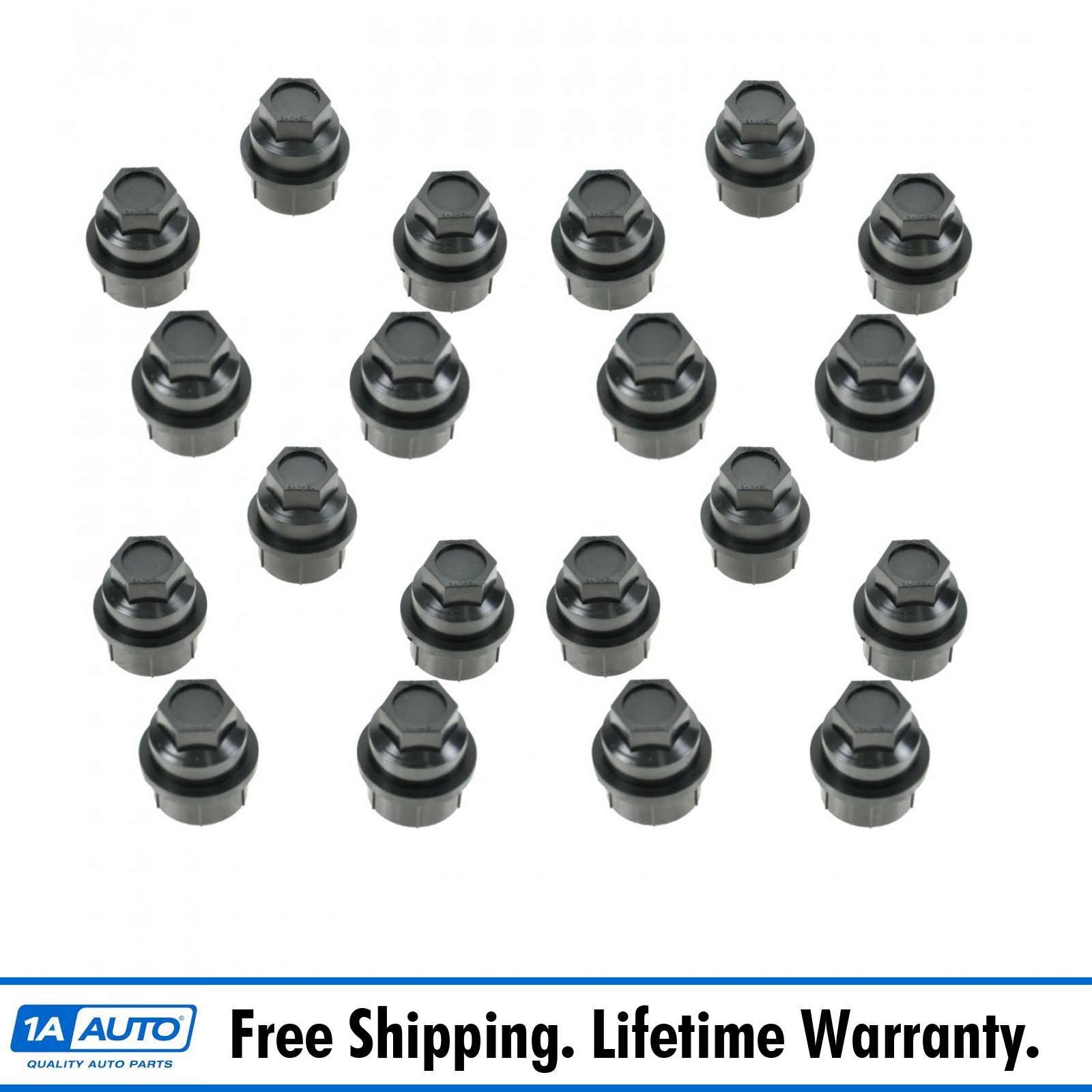 Dorman Wheel Lug Nut Cap Black Plastic Kit Set of 5 for Chevy GMC Cadillac