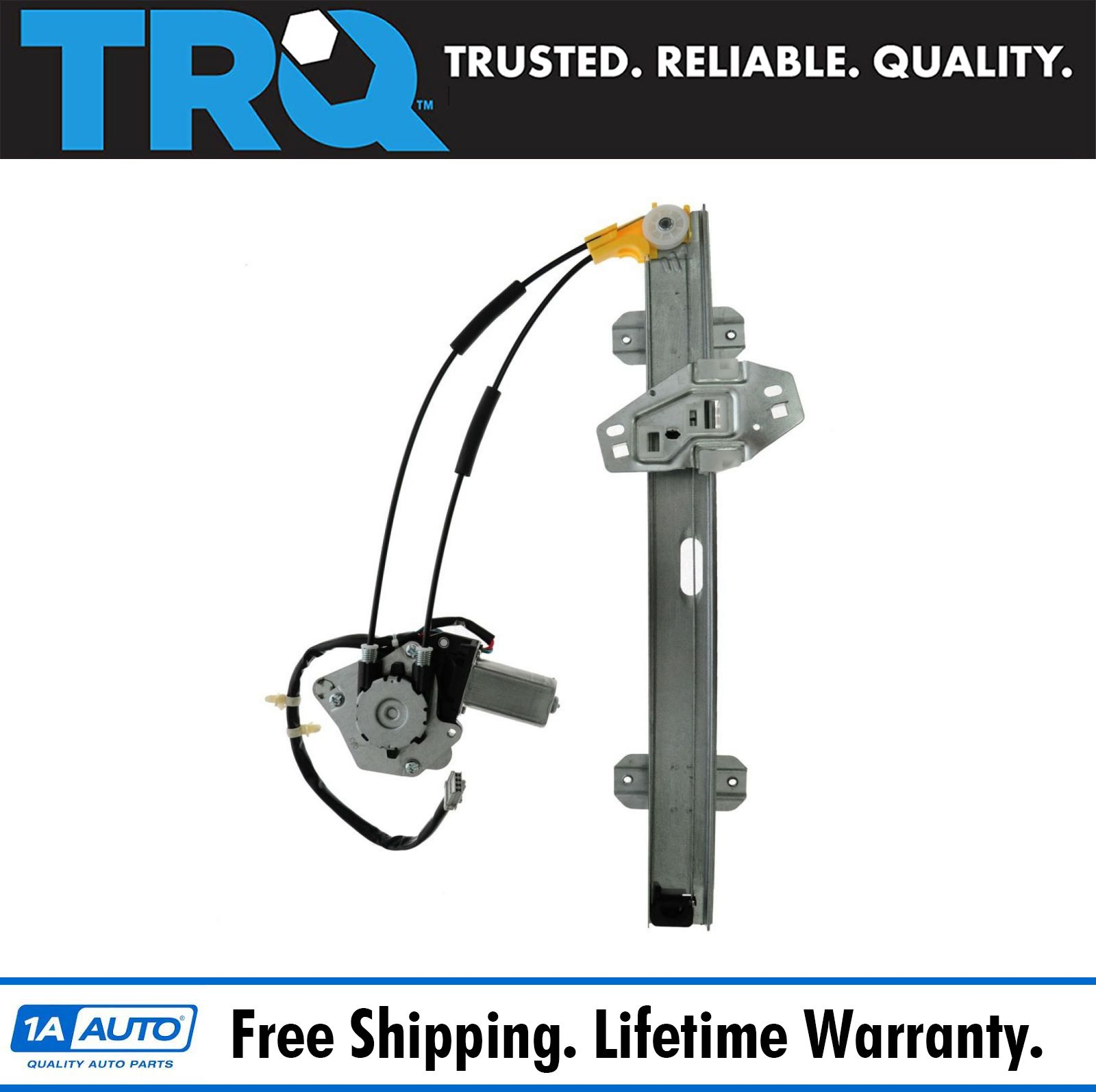 TRQ Front Power Window Regulator W/ Motor Driver Side LH